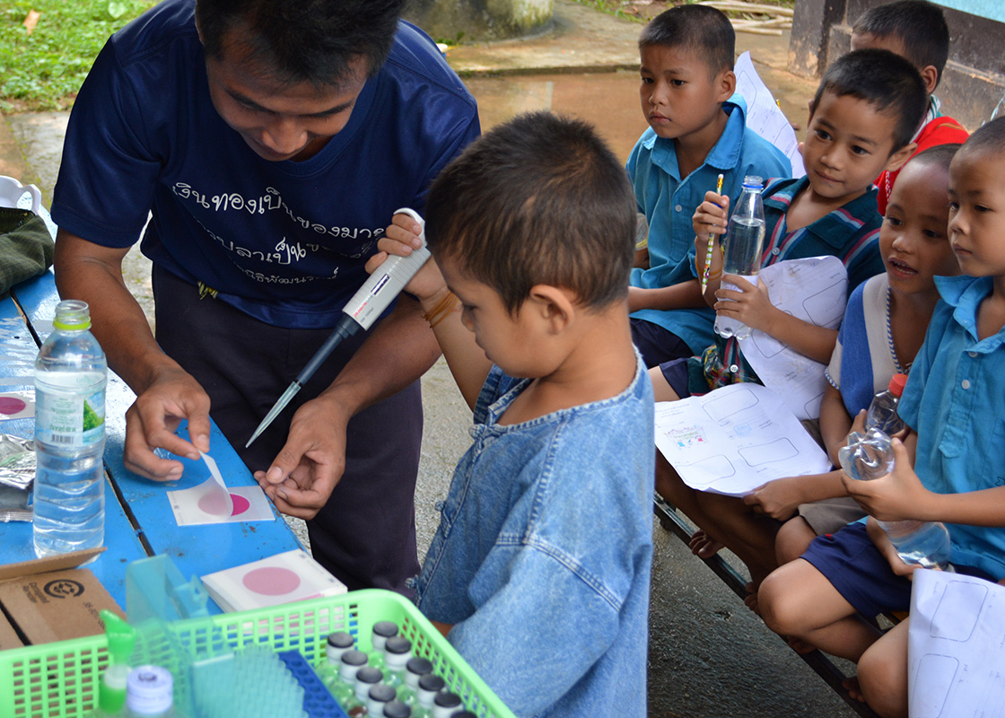 The students were excited to try their hand at water testing with Petrifilms.