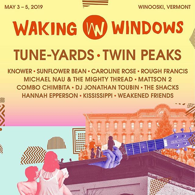 So excited to be playing Waking Windows in Winooski, VT this May! Tickets and info available at wakingwindows.com 🎉