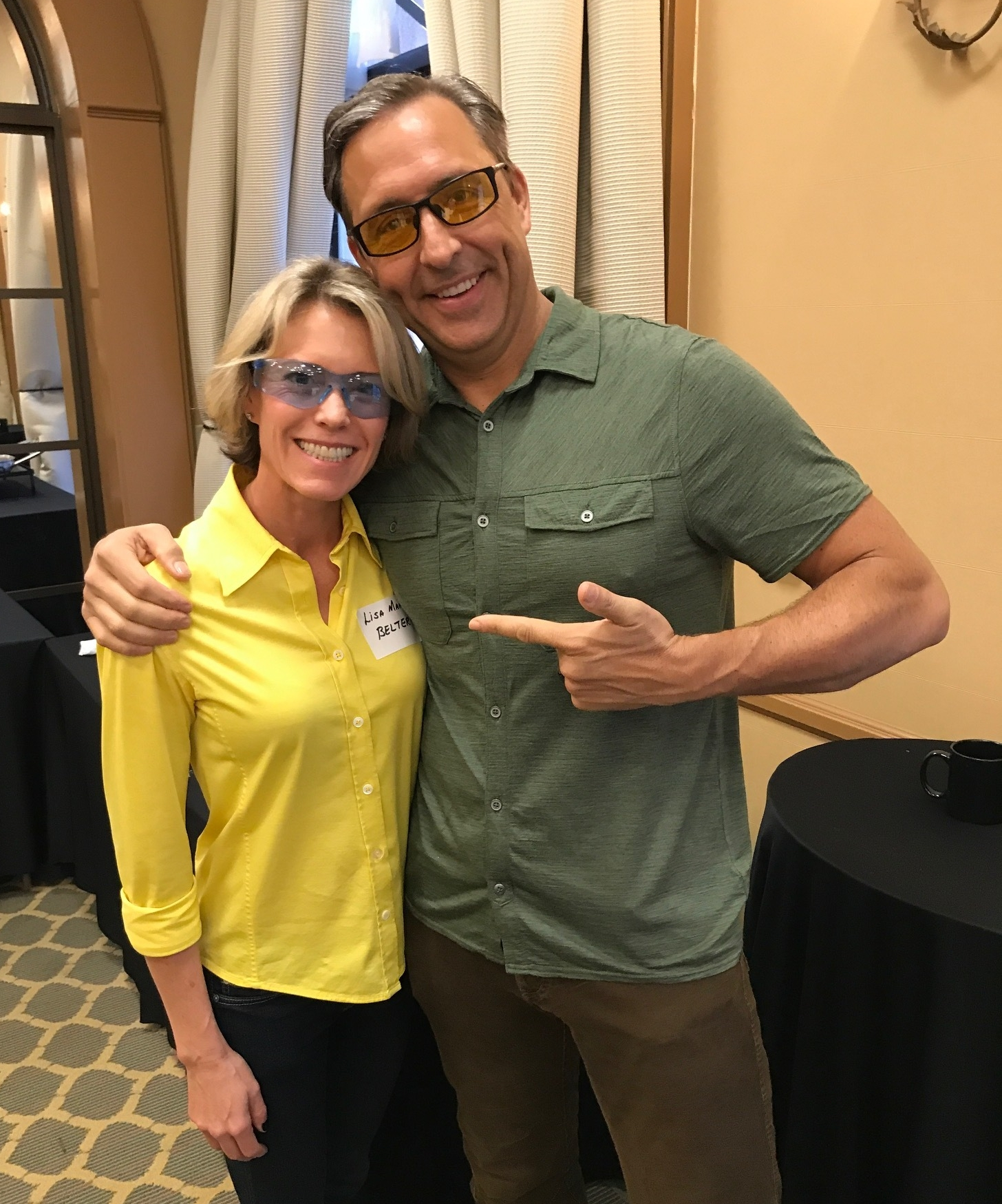Lisa with DAVE ASPREY, founder of 40 Years of Zen and the BULLETPROOF diet.   www.bulletproof.com