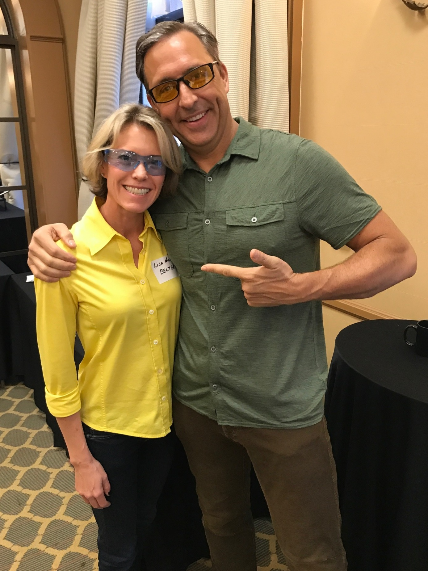 Lisa Belter with Dave Asprey (Bulletproof and Upgrade Labs)
