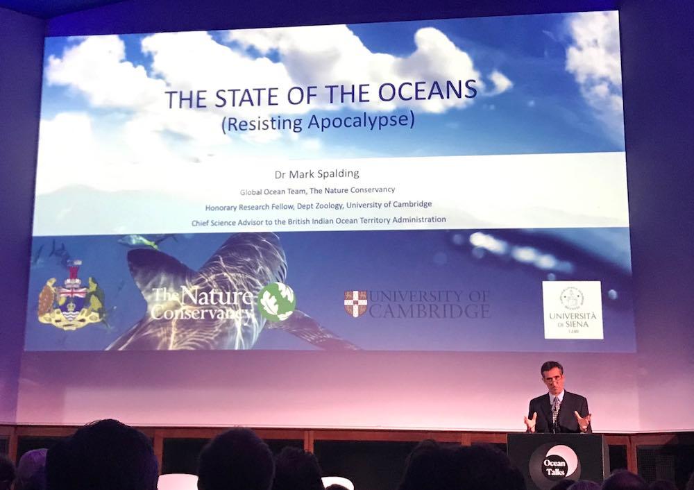 Dr Mark Spalding, senior marine scientist for  The Nature Conservancy