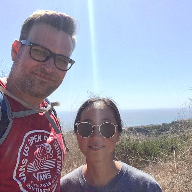 Hiking at Crystal cove today.