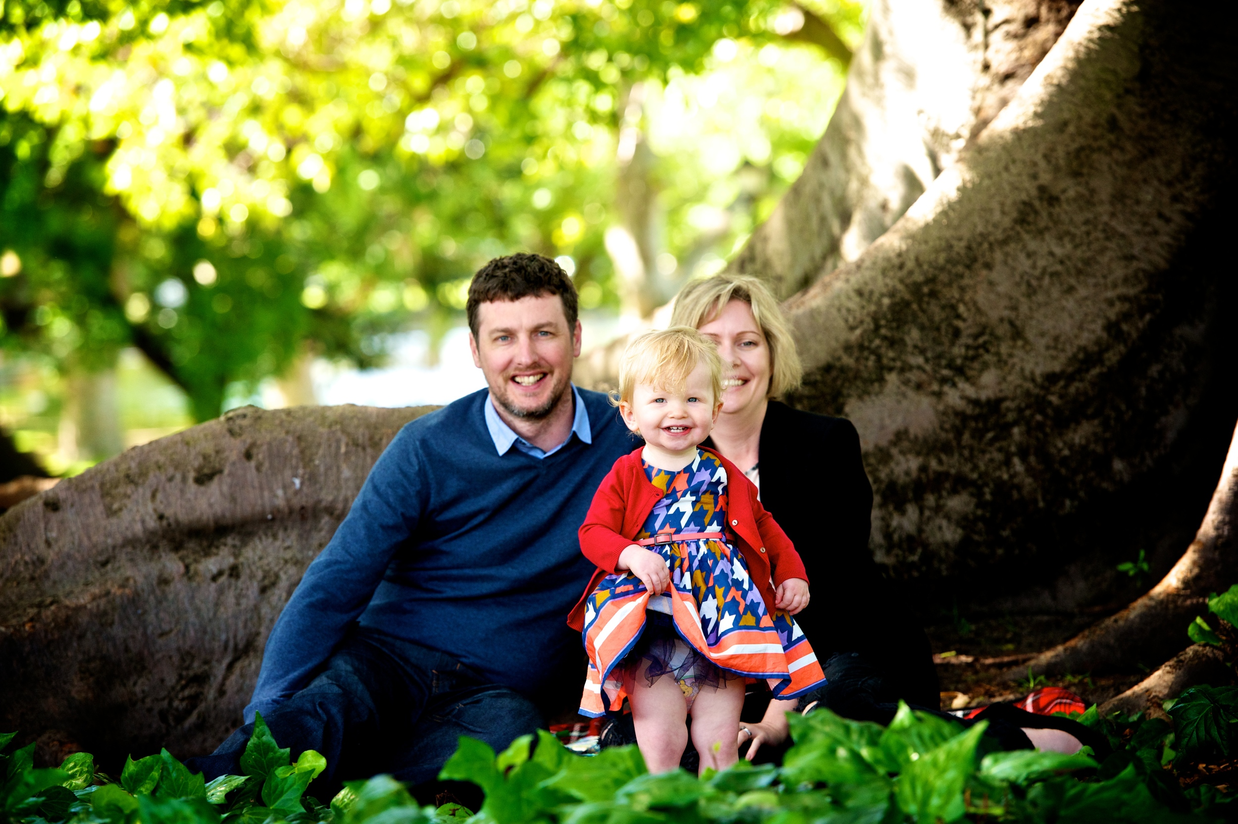 Hyde park is an amazing backdrop for family photography