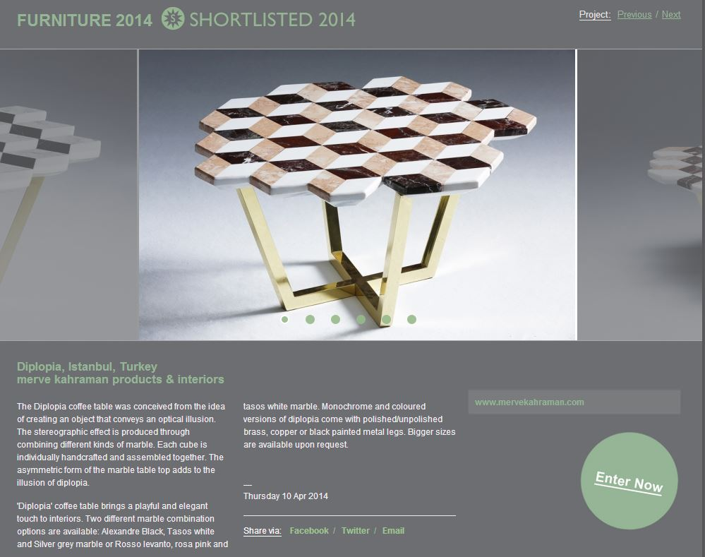 WIN Awards 2014 Diplopia Coffee Table Featured
