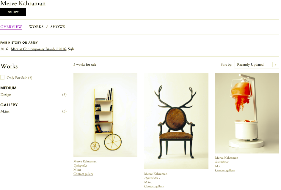 Merve Kahraman Artsy Hybrid Chair Revitalizer Cyclopedia