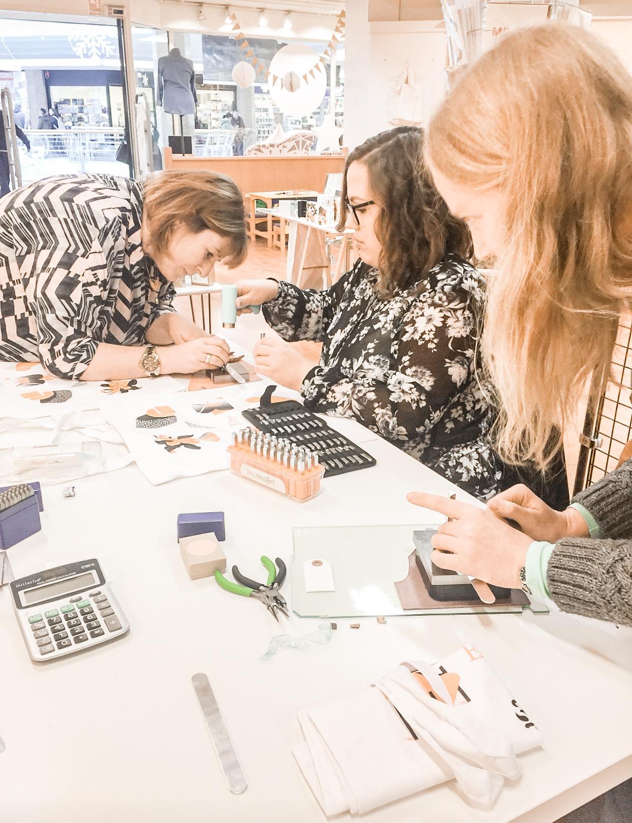 My workshop at the Bristol Etsy Team pop up shop in November 2016