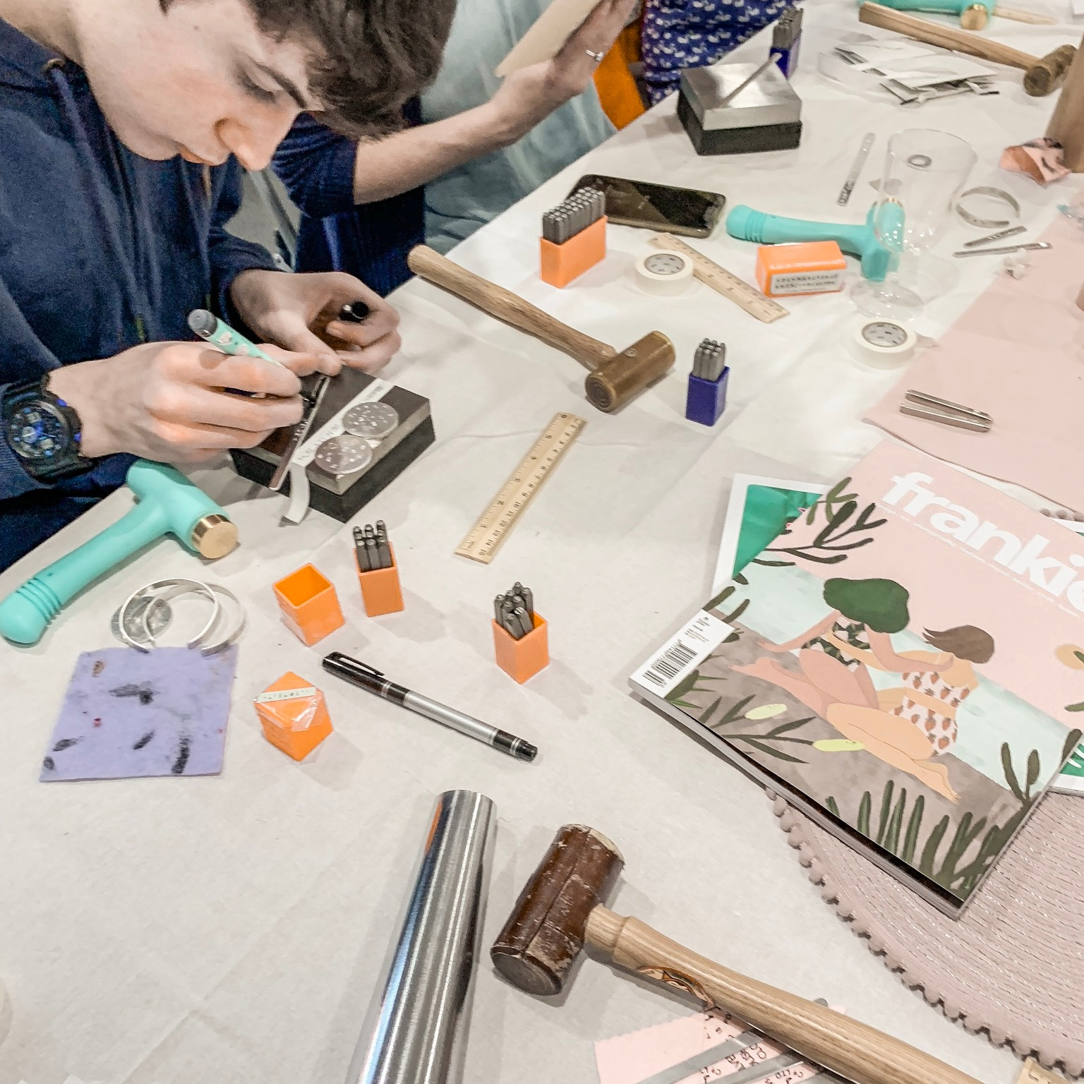 Making+jewellery+at+Pouss+Design+workshop+Bristol