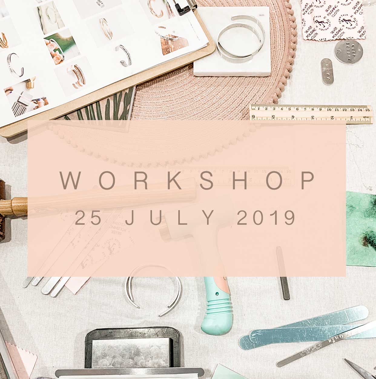 hand stamped jewellery workshop