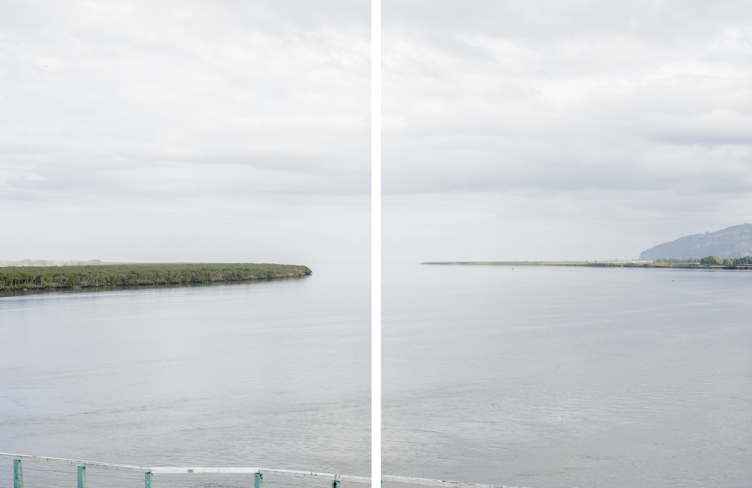Waihou River Mouth   Diptych 2017  Archival Pigment Print on matte photo rag  Ed of 5. 600 x 787 each