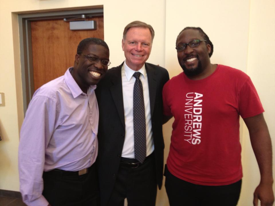 From left to right: Me,Mark Finley & Andrew, my brother. Mark is probably the most influential evangelist in my life and ministry.