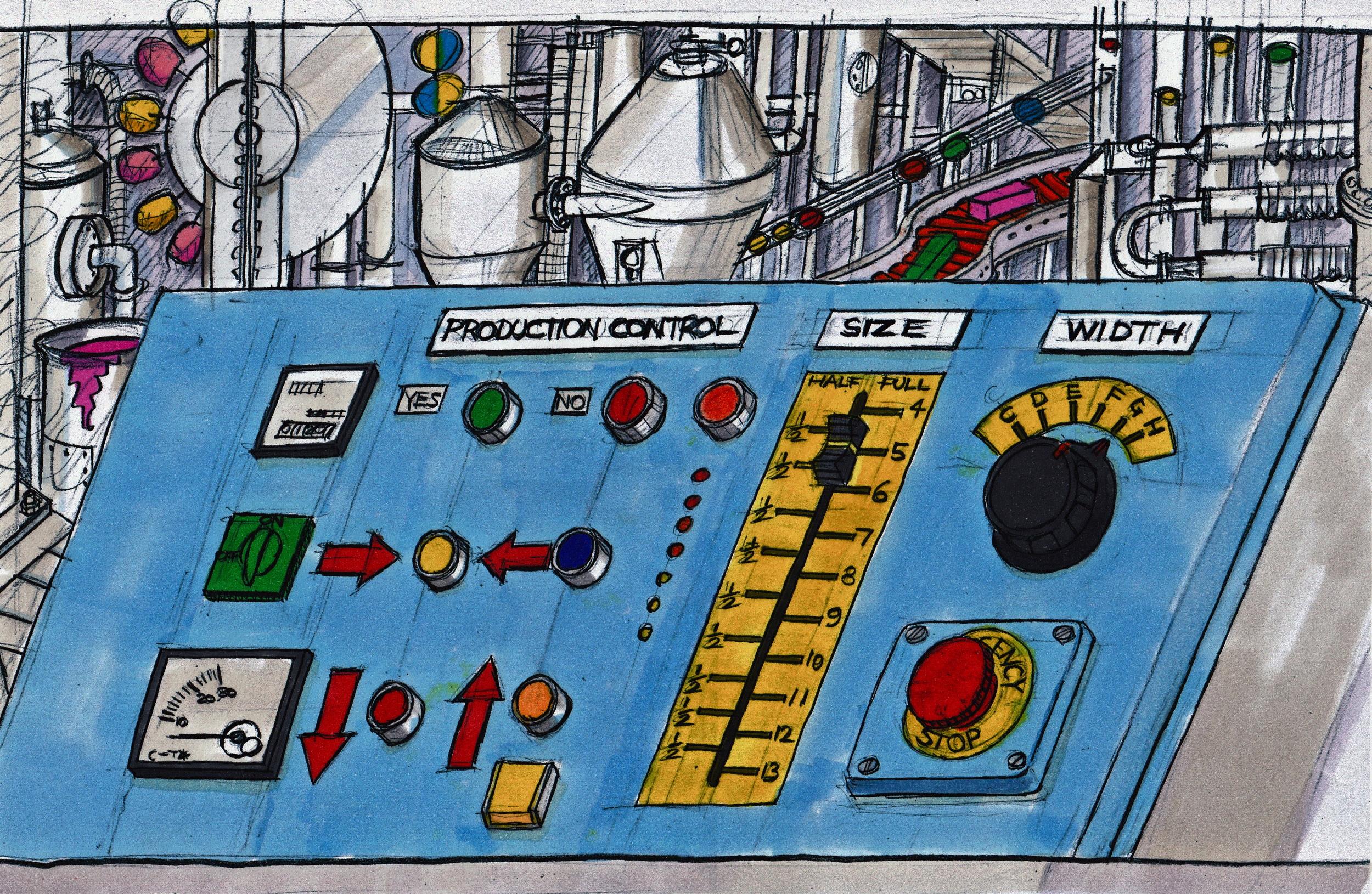 concept illustration of control panel