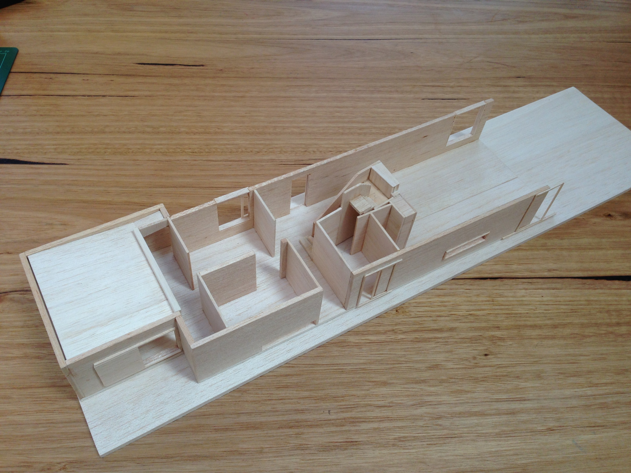 final concept model ground floor and staircase
