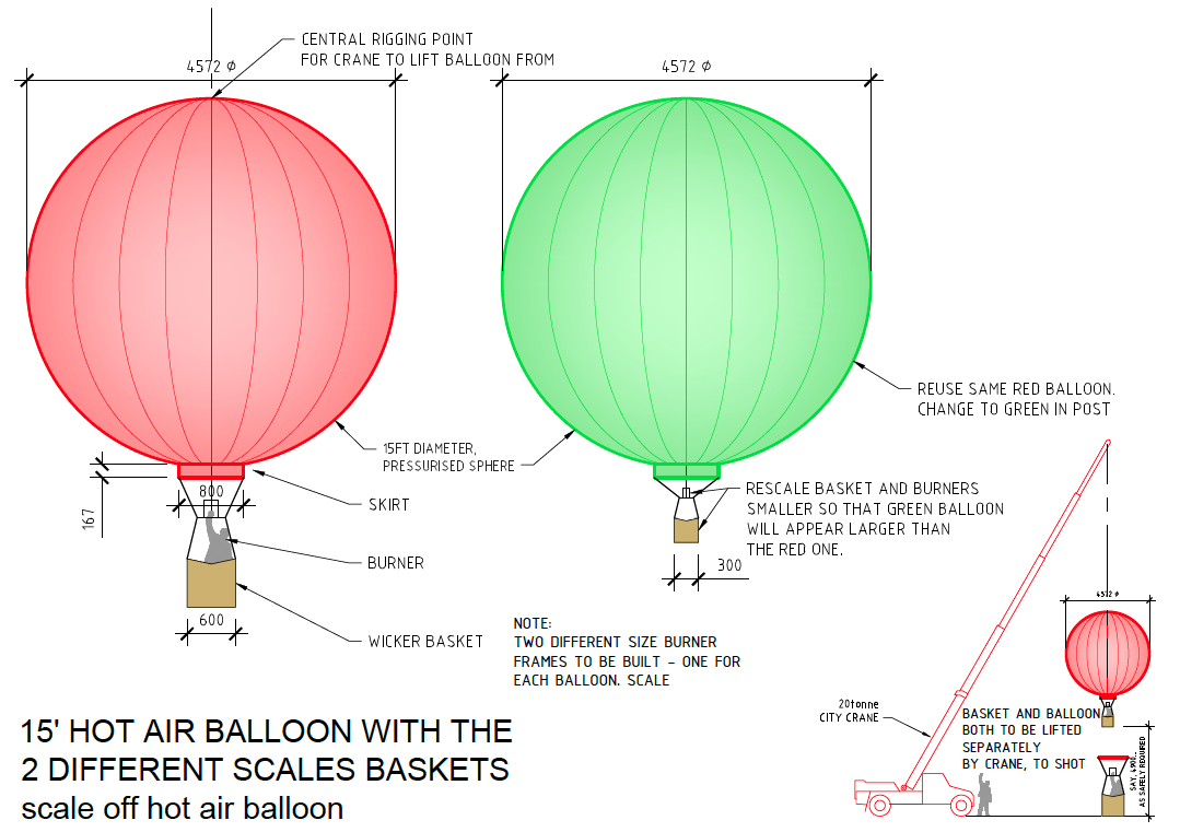 concept illustration of miniature 1/4 scale hot air balloon by Jacinta Leong