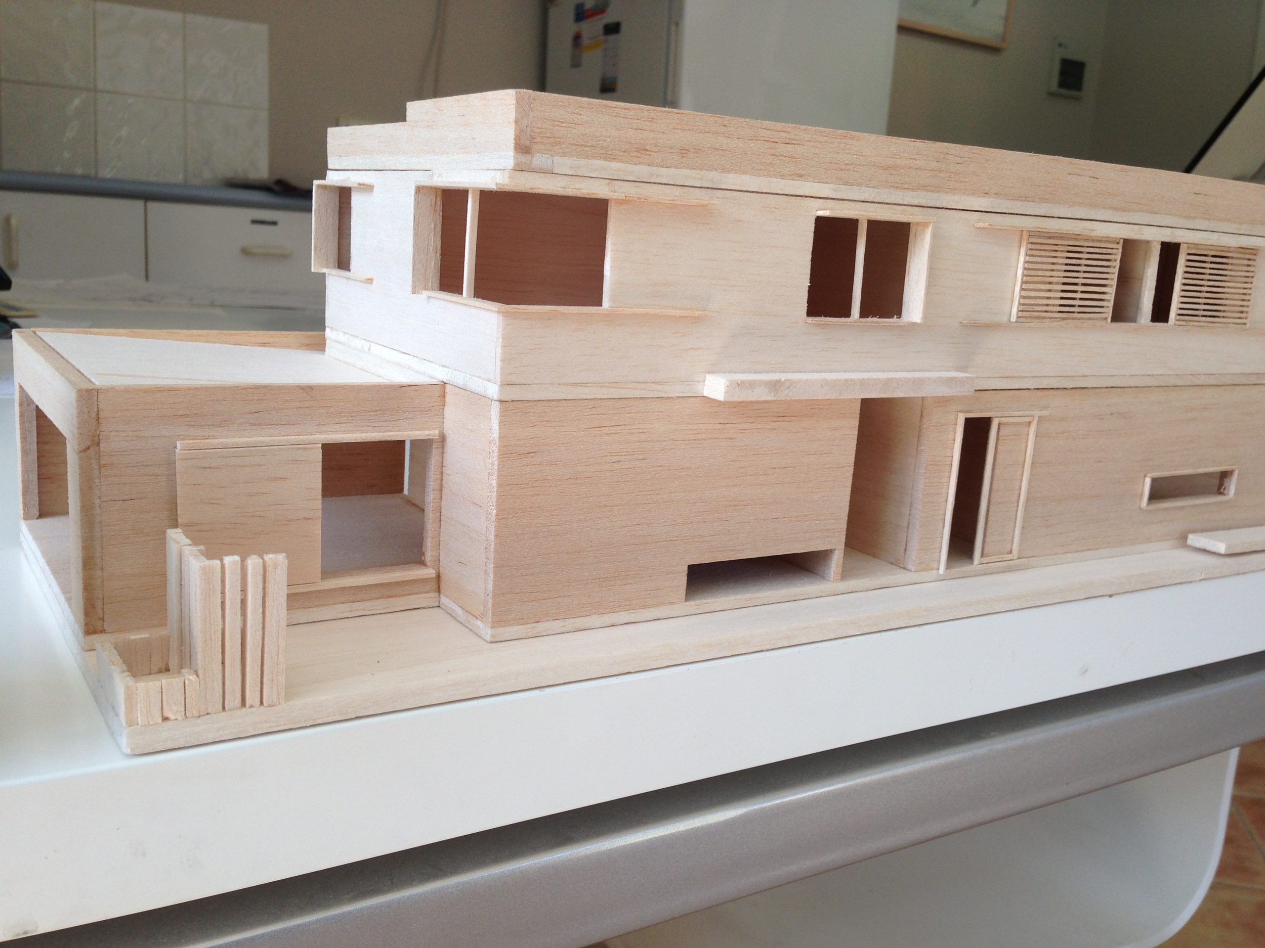 final concept model front side view of house including front fence
