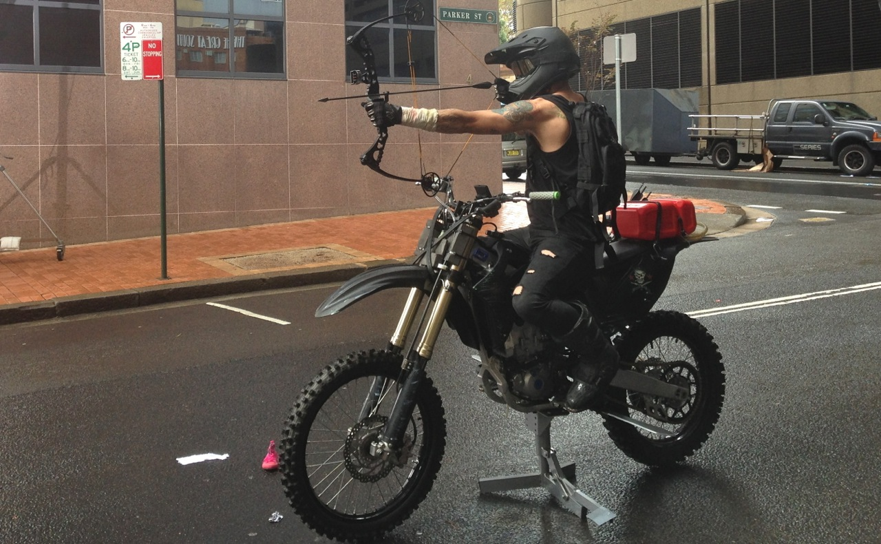 Dressed motorbike