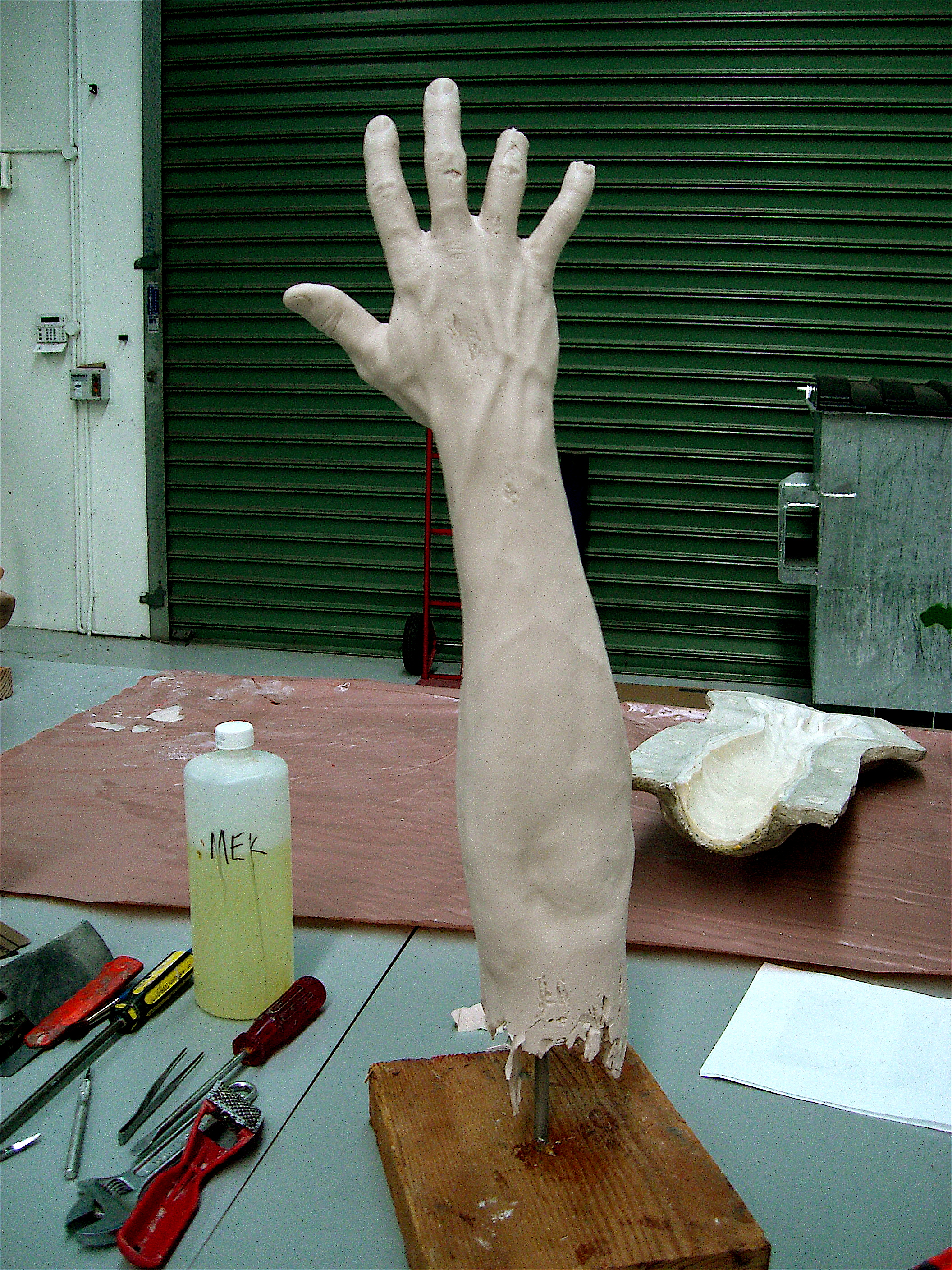prosthetic arm made by Make-Up Effects Group