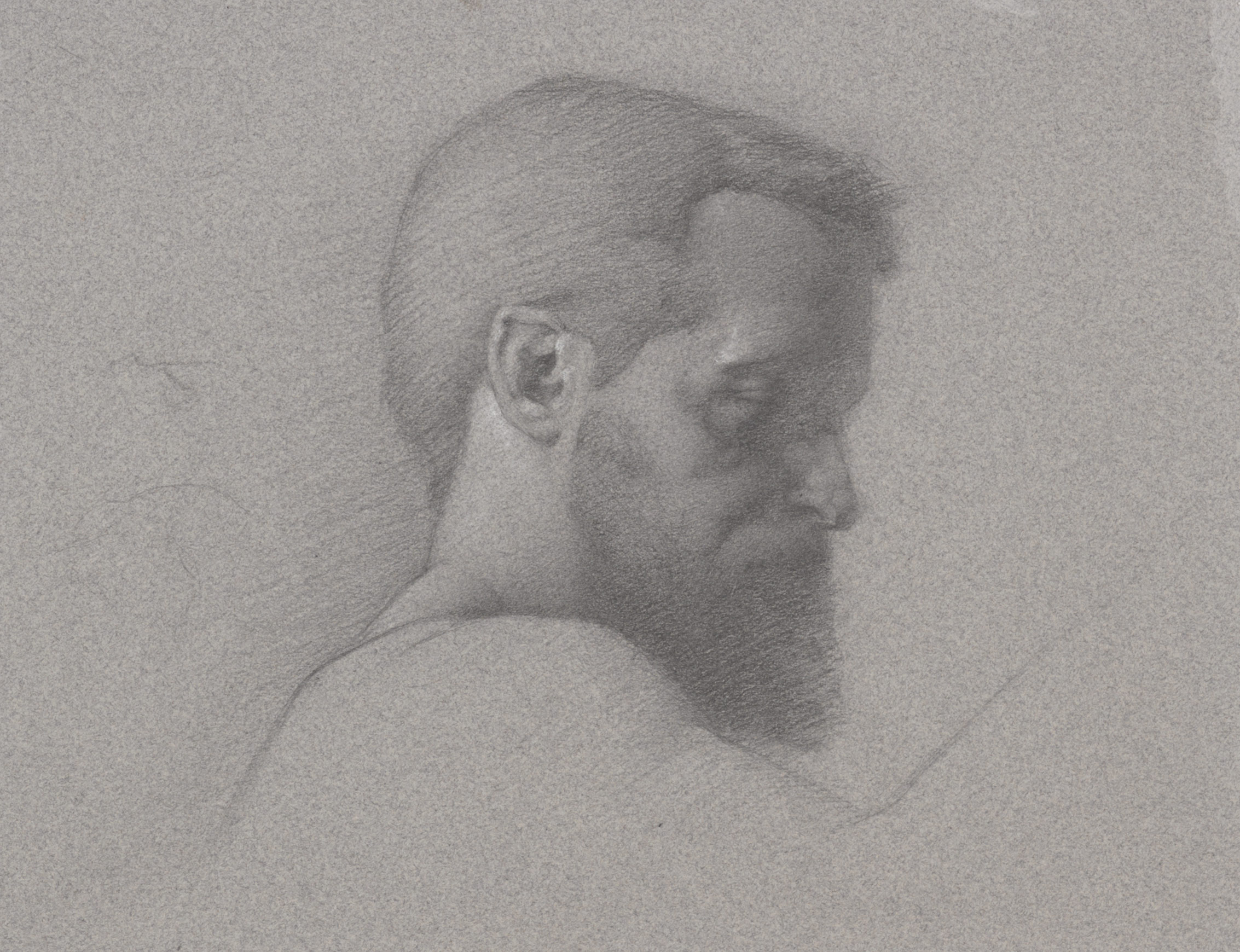 John. 9x12. Graphite on toned paper.