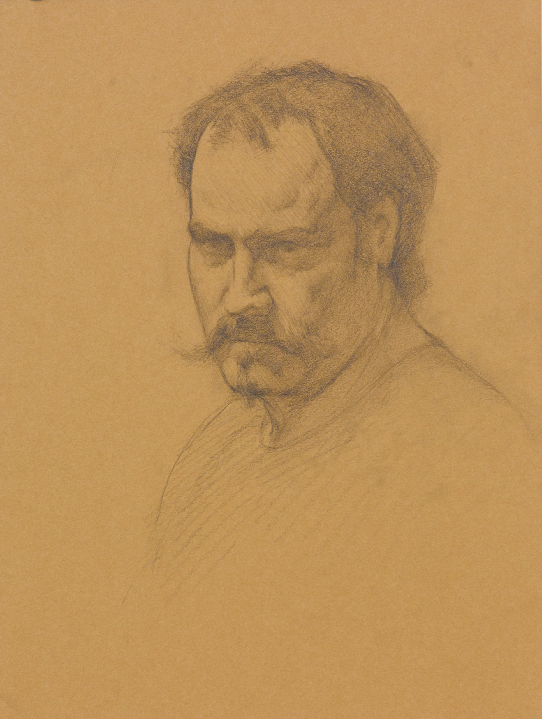Portrait of a Man. 9x12. Graphite on toned paper.