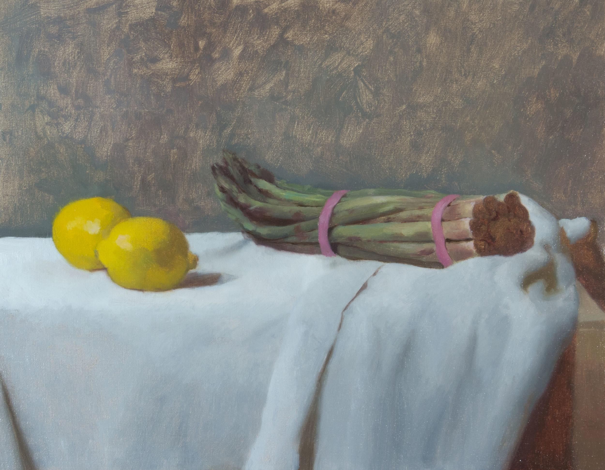 Manet's Asparagus. 14x18. Oil on canvas.