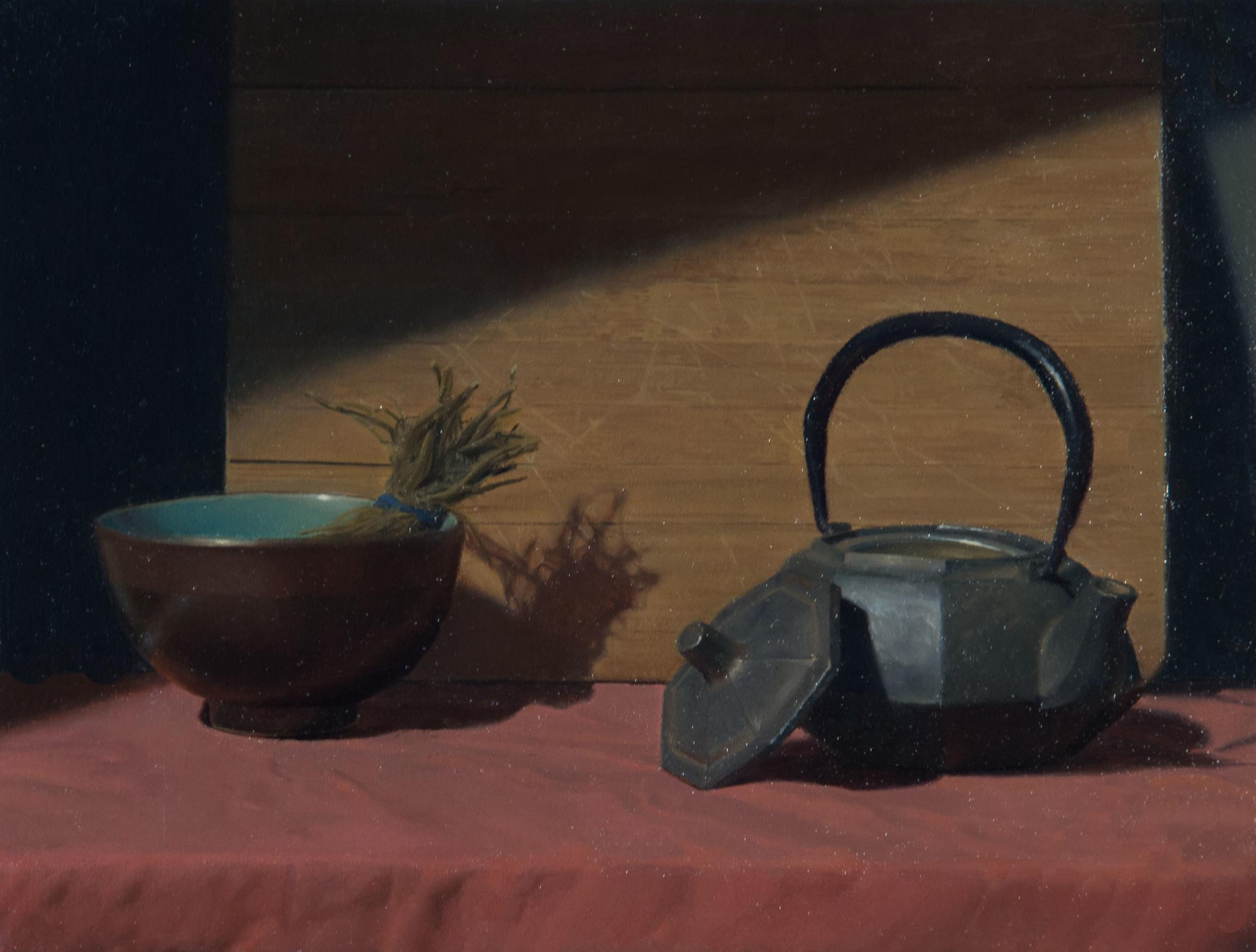 Tea Ceremony. 9x12. Oil on canvas.