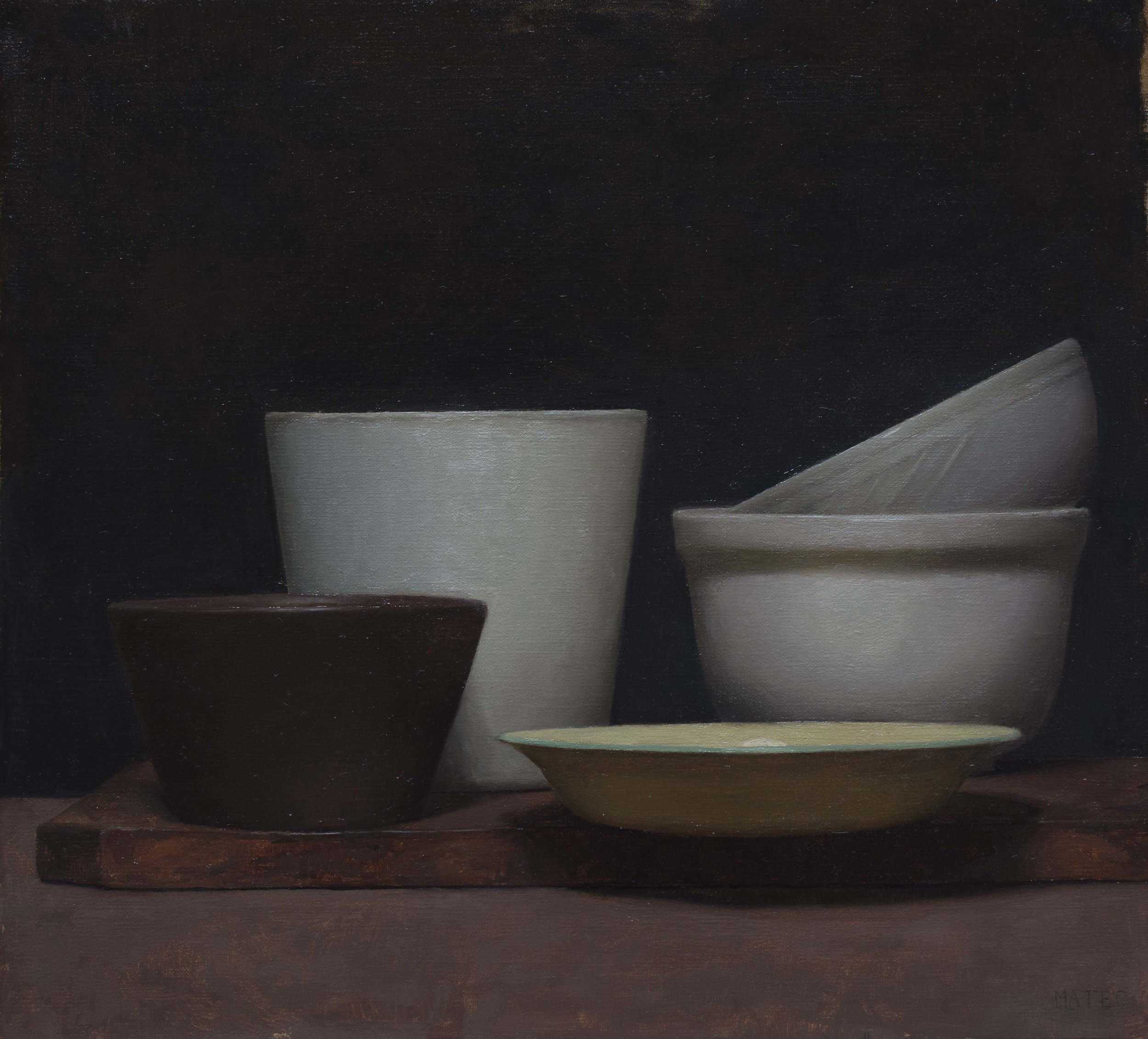 Empty Bowls. Oil on Canvas. 11x12