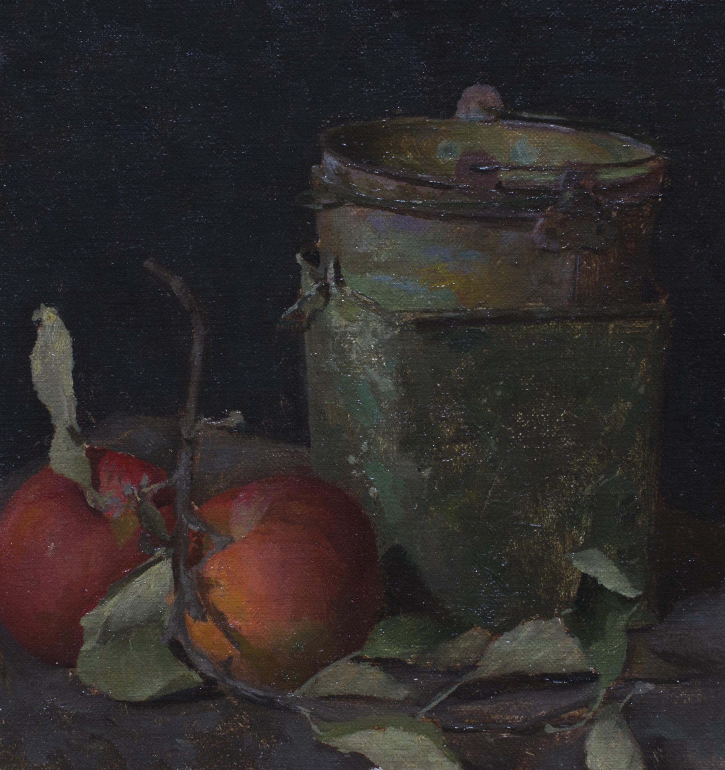 Apple Harvest. Oil on Panel. 5x5