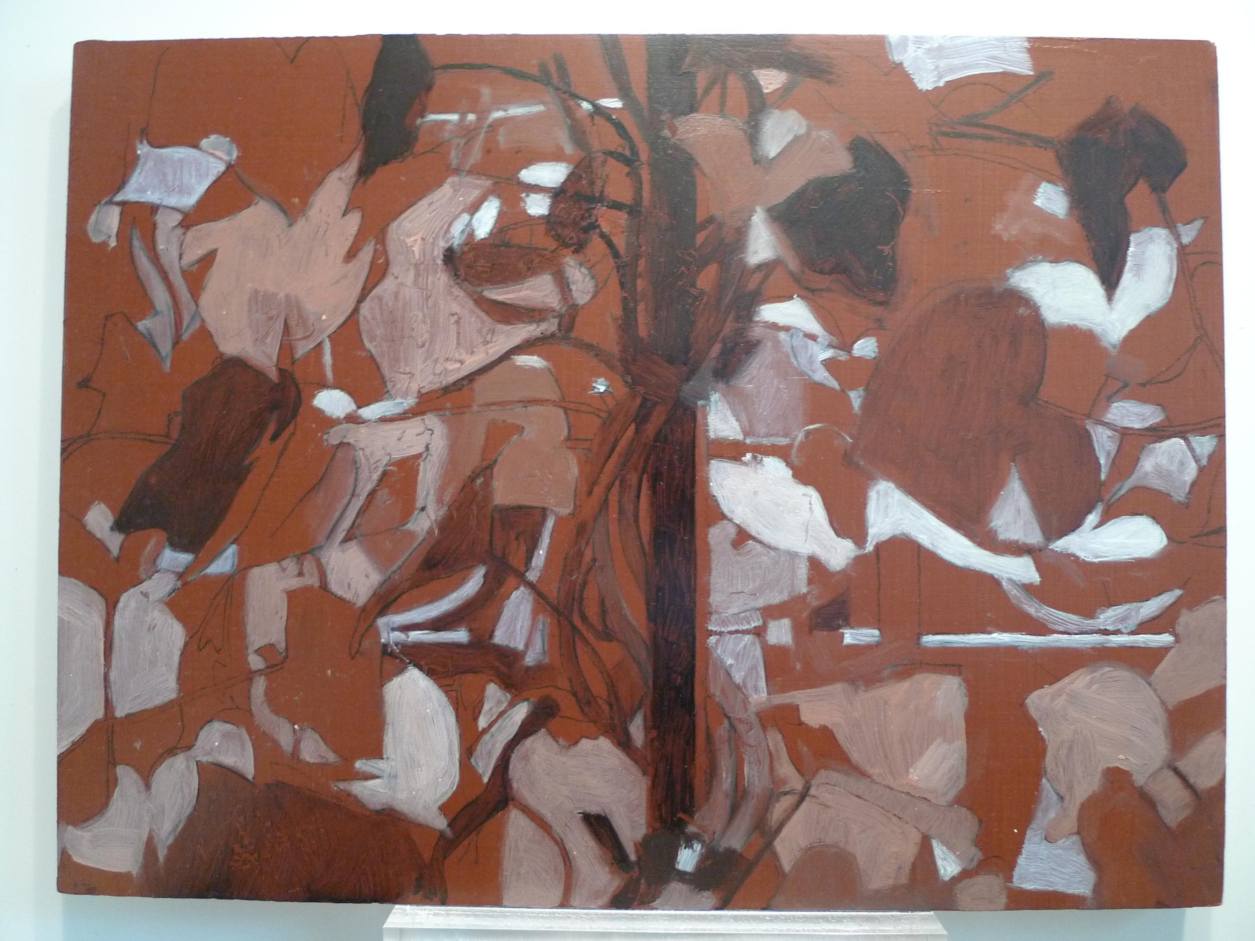 Oil on Board  9 x 12 inches Tarek Ashkar,2014