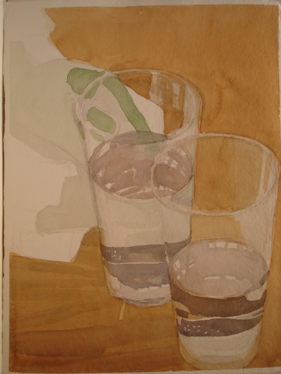 Watercolor on paper 11 x 14 inches Tarek Ashkar,2005