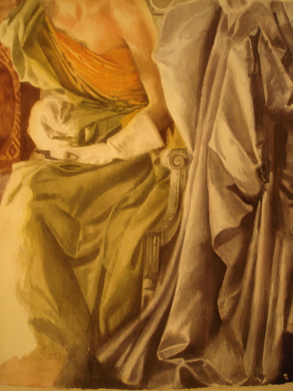Watercolor on paper 30 x 30 inches Tarek Ashkar,1998