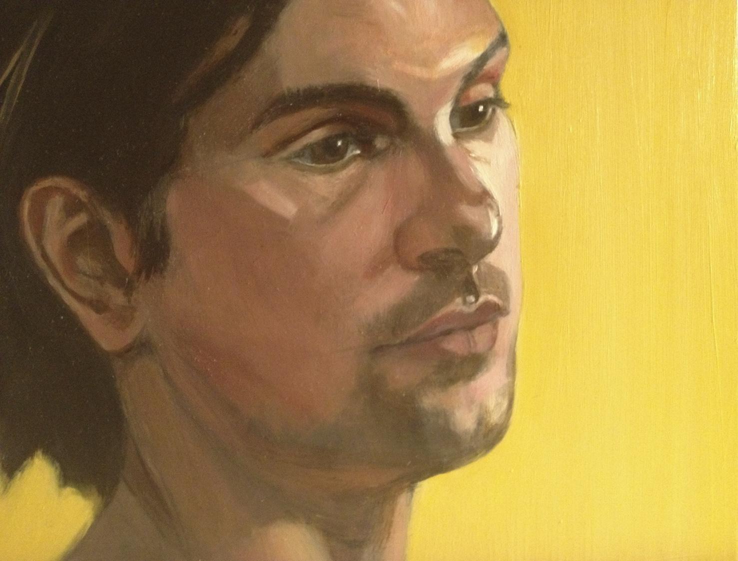 Oil on Board 11 x 14 Inches Tarek Ashkar,2012