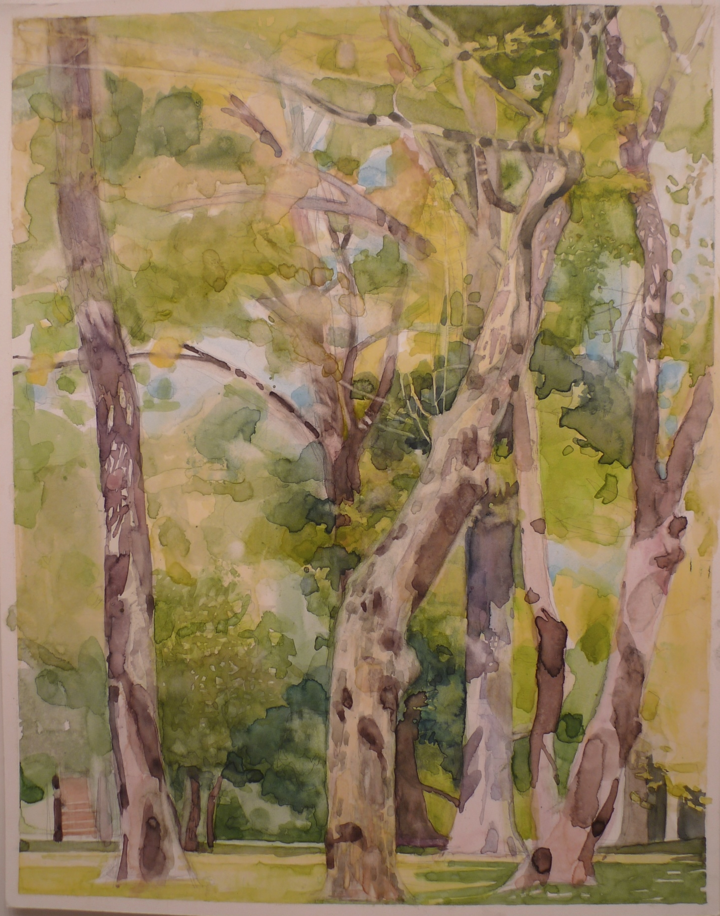 Watercolor on Paper 11 x 14 inches Tarek Ashkar,2008