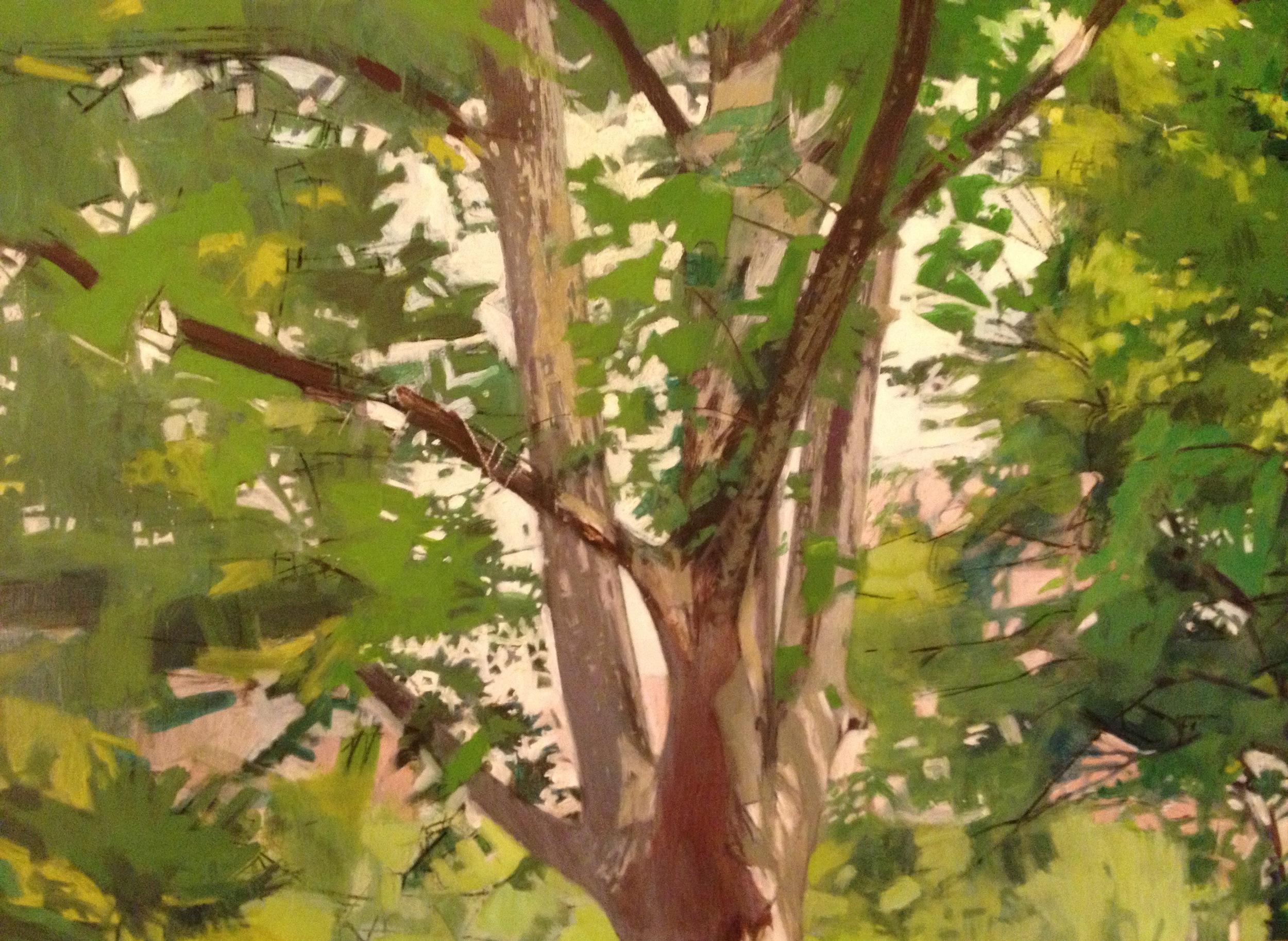 Watercolor on paper 9 x 12 inches Tarek Ashkar,2015