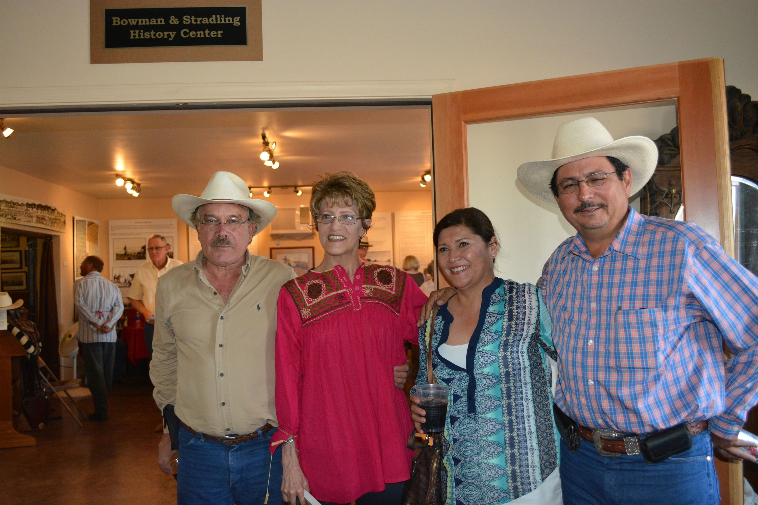 From right:  José Luis Salgado, Julia Félix de Salgado, Cecilia Sánchez de Ramonet, and Ricardo Ramonet Rascón.  All are members of Por Los Caminos de Kino riders from Hermosillo, Sonora.  José Luis is the leader/organizer of the group.