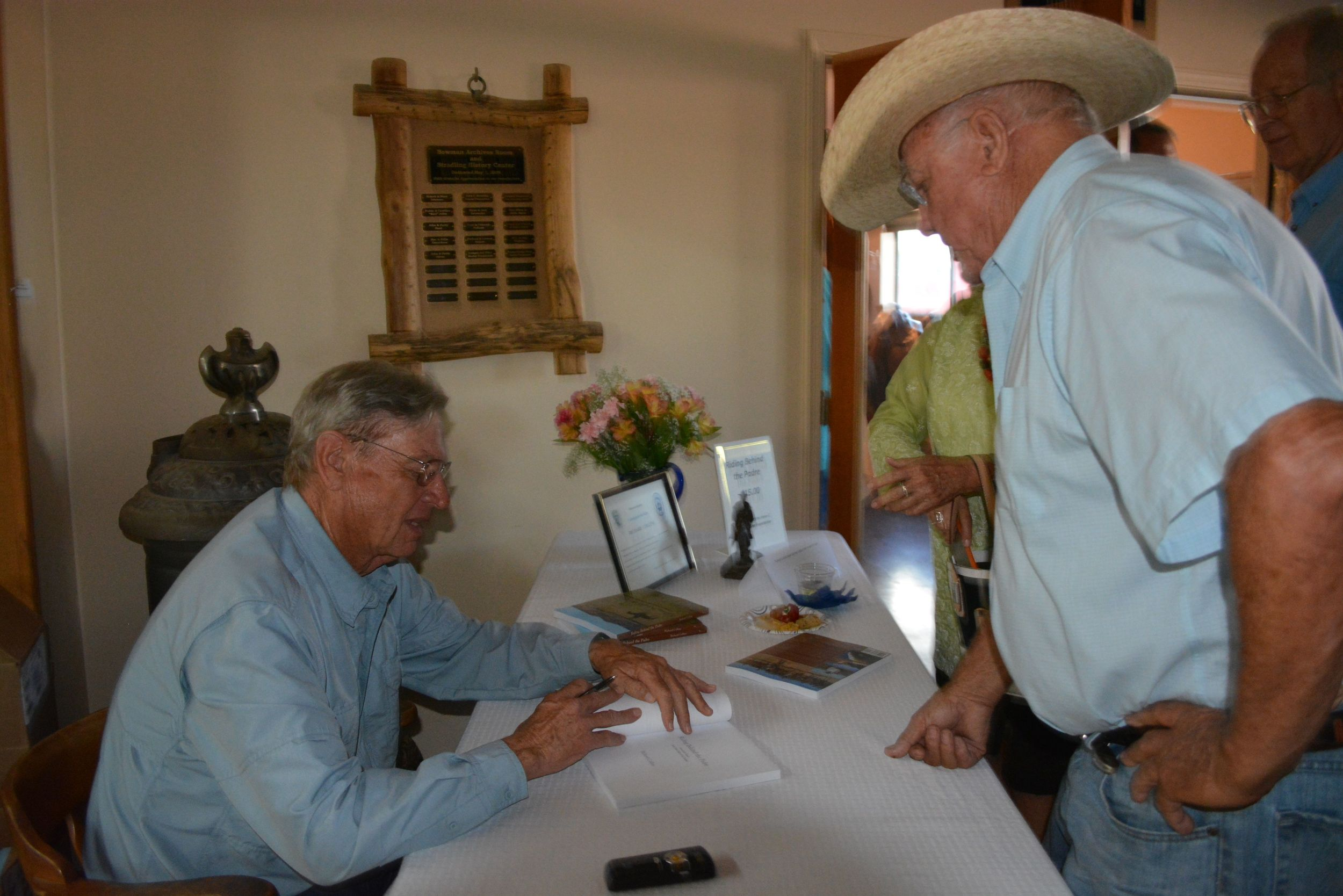 "Richard signing the book for H. Alan Day, author of  The Horse Lover .          Normal   0           false   false   false     EN-US   X-NONE   X-NONE                                                                                                                                                                                                                                                                                                                                                                           /* Style Definitions */  table.MsoNormalTable 	{mso-style-name:""Table Normal""; 	mso-tstyle-rowband-size:0; 	mso-tstyle-colband-size:0; 	mso-style-noshow:yes; 	mso-style-priority:99; 	mso-style-parent:""""; 	mso-padding-alt:0in 5.4pt 0in 5.4pt; 	mso-para-margin-top:0in; 	mso-para-margin-right:0in; 	mso-para-margin-bottom:10.0pt; 	mso-para-margin-left:0in; 	mso-pagination:widow-orphan; 	font-size:11.0pt; 	font-family:""Calibri"",""sans-serif""; 	mso-ascii-font-family:Calibri; 	mso-ascii-theme-font:minor-latin; 	mso-hansi-font-family:Calibri; 	mso-hansi-theme-font:minor-latin;}"