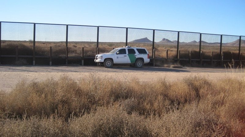 Border Patrol along the fence