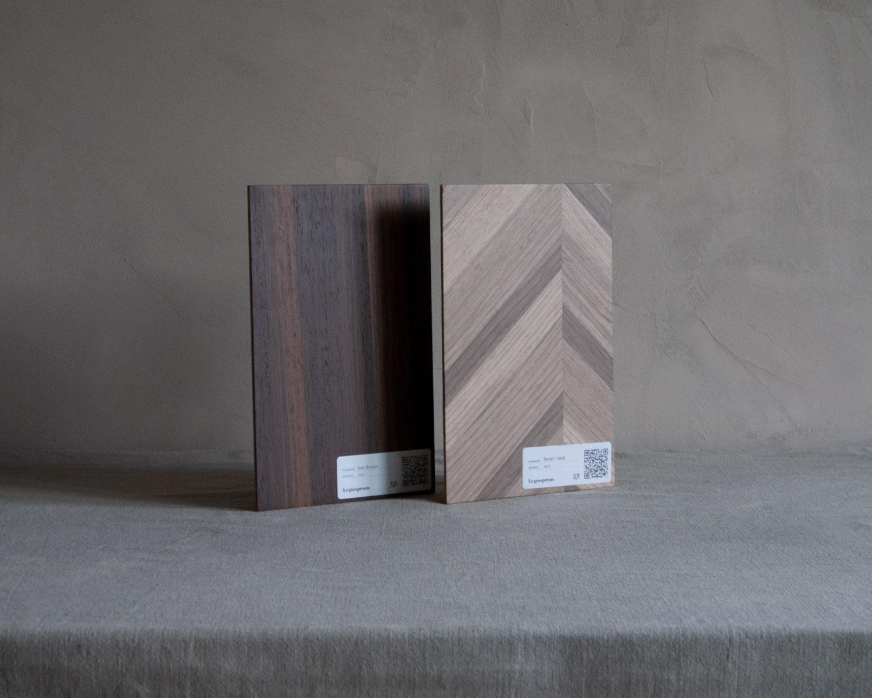 Образцы под лаком - Шпонированные таблички толщиной 3 мм и с лаковым полу-матовым покрытием позволят увидеть шпон примерно в том же цвете, в котором он будет в готовом изделии.Стоимость одного образца: 200 гривен. Бесплатная доставка.