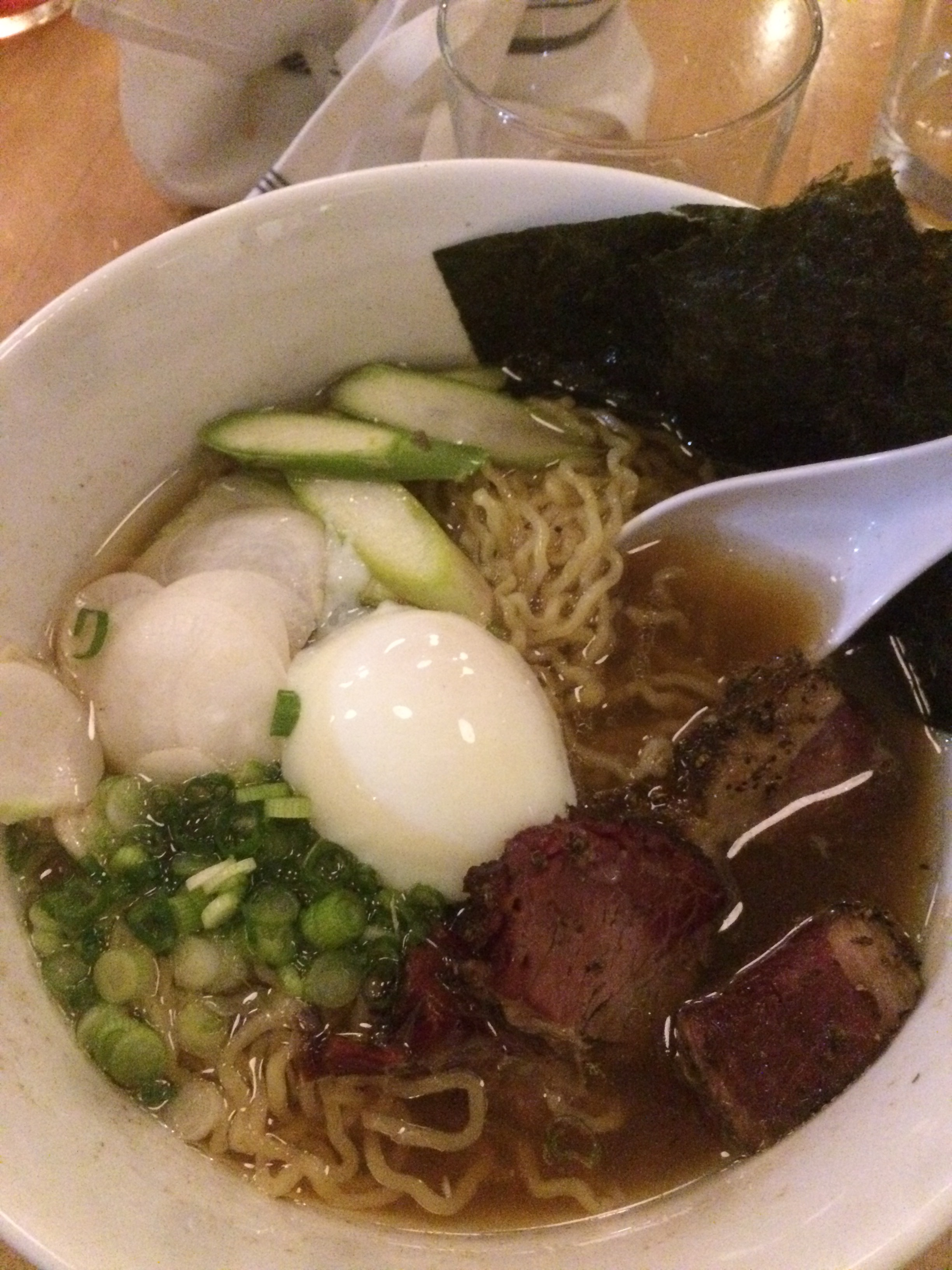 Ddeelliicciioouuss Shoyu Ramen with brisket, courtesy of Chef Rob.