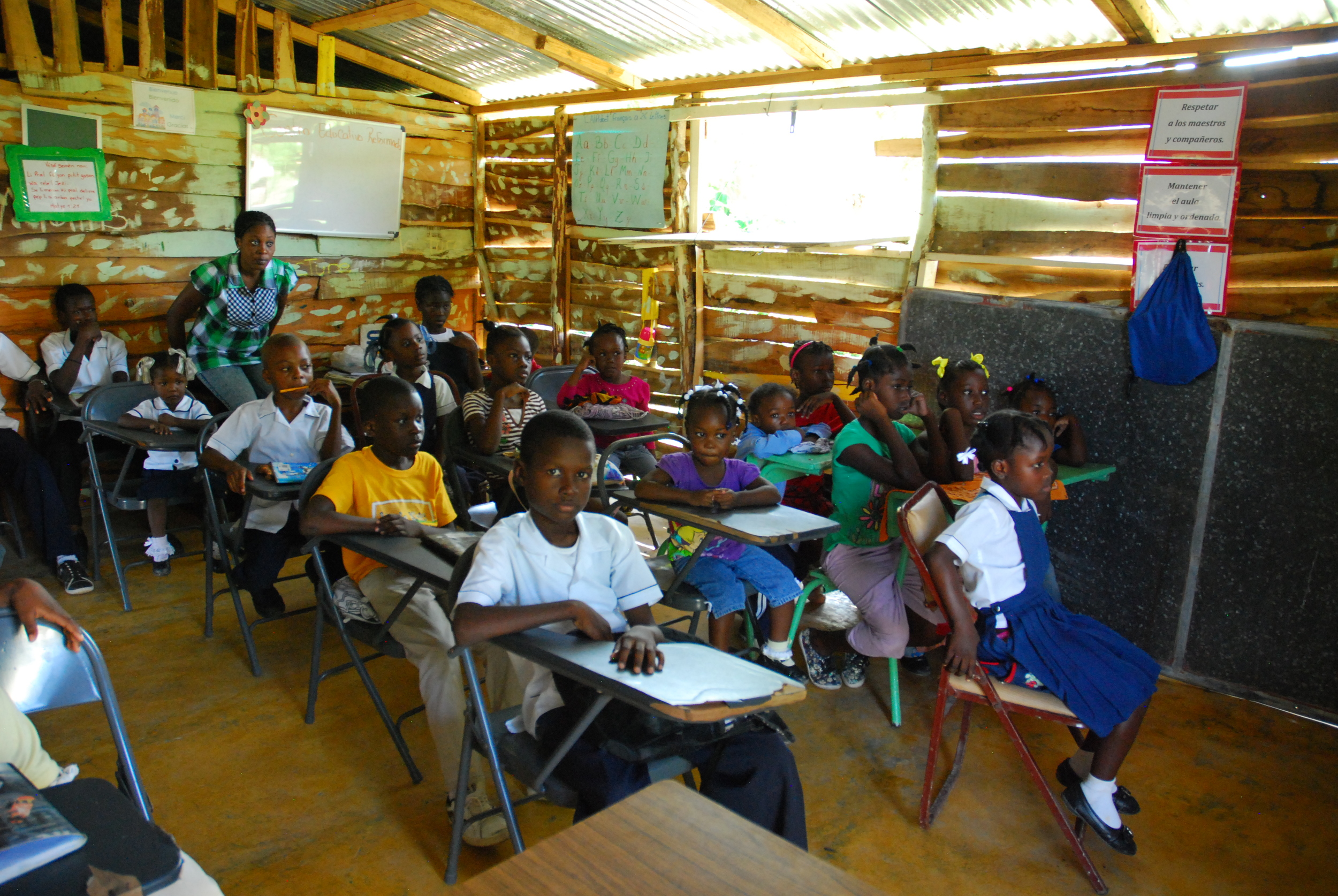 Rose of Sharon school in their first building