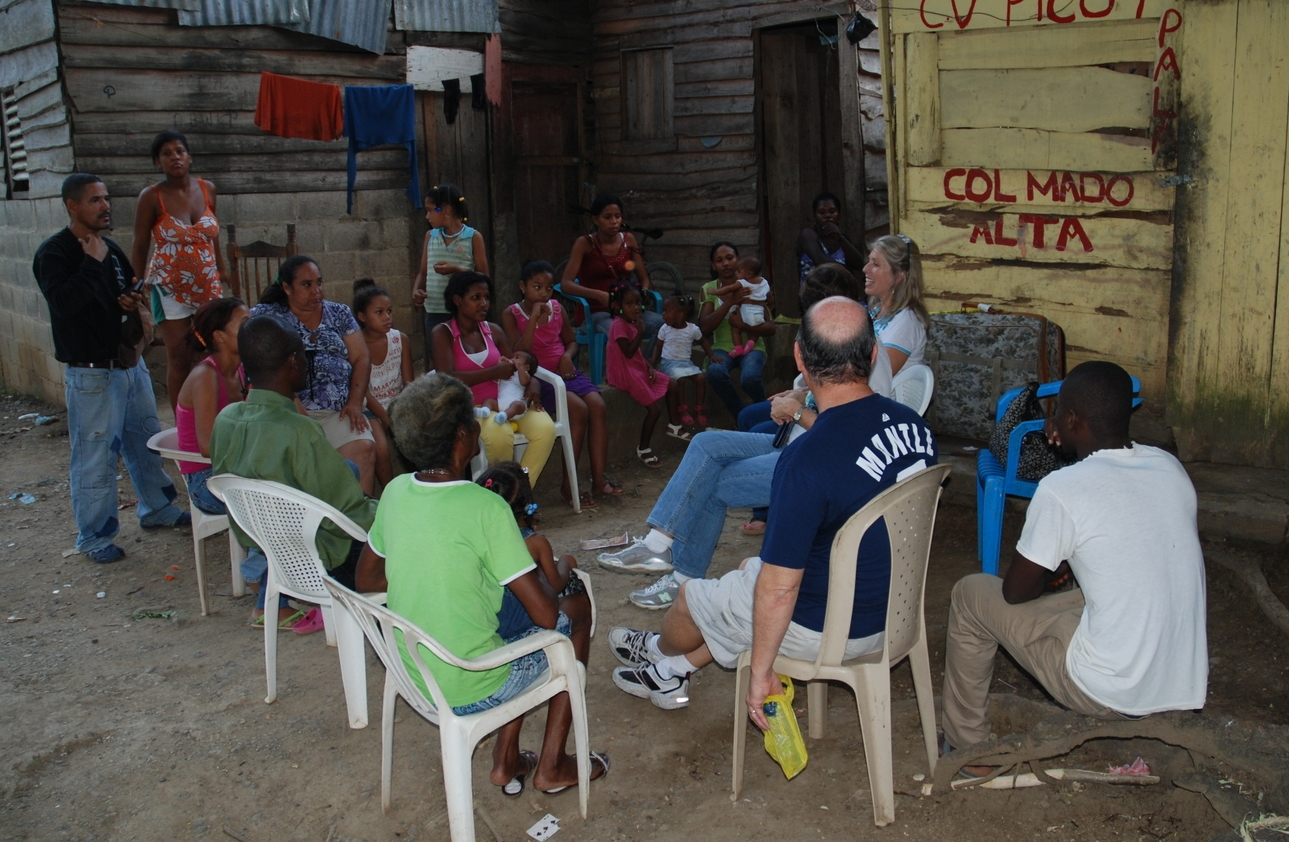 Meeting with those in the Rails, Dominican Republic