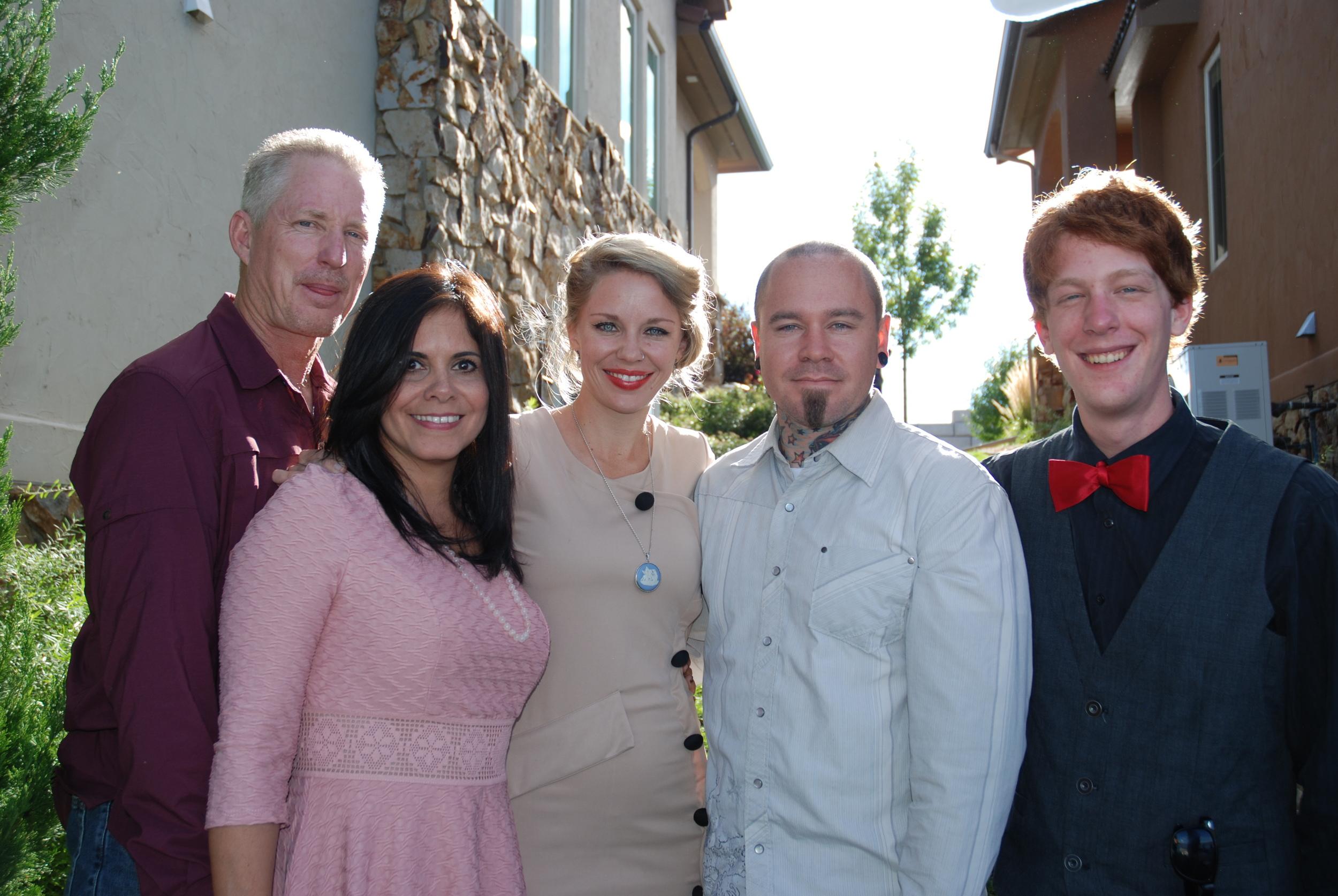 Doug and Zenaida, Sarah and Josh (Doug's daughter and her husband) and Nathaniel (Doug's son)