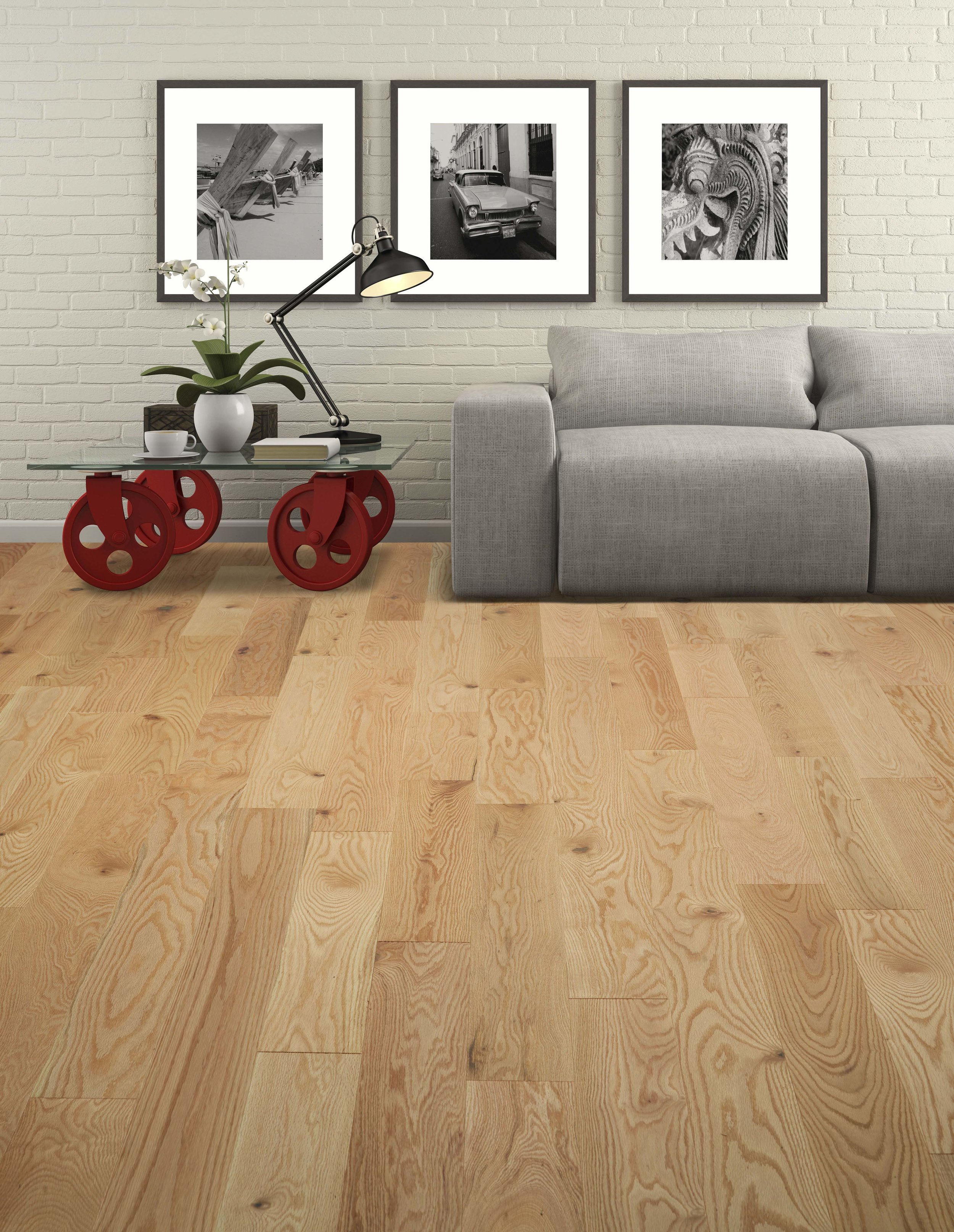 Vintage Wirebrushed Red Oak Natural