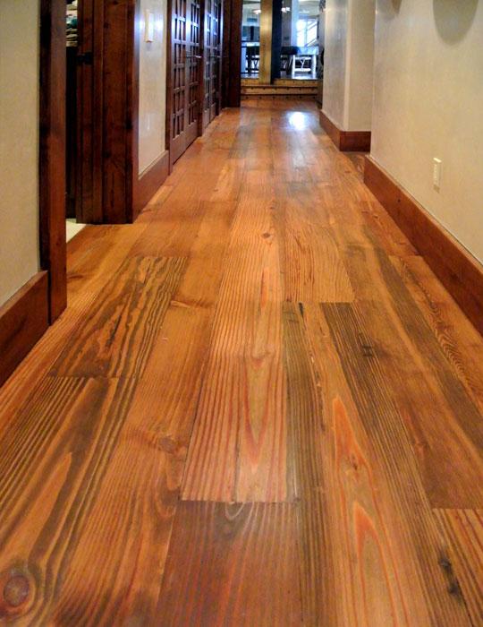 Antique Heart Pine Common, Reclaimed Wood Laminate Flooring