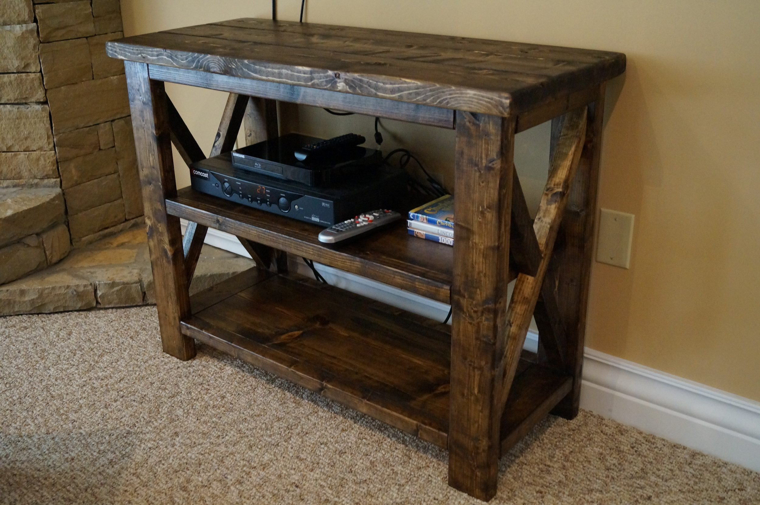 Hand Crafted Rustic Coffee Table Console And