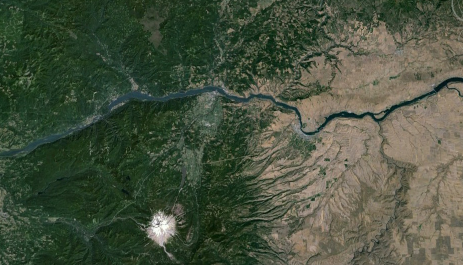 With Mt. Hood and Oregon to the south, Portland to the west, and Washington to the north, the Columbia Gorge encompasses a rangeof diverse microclimates in less than 40 miles.