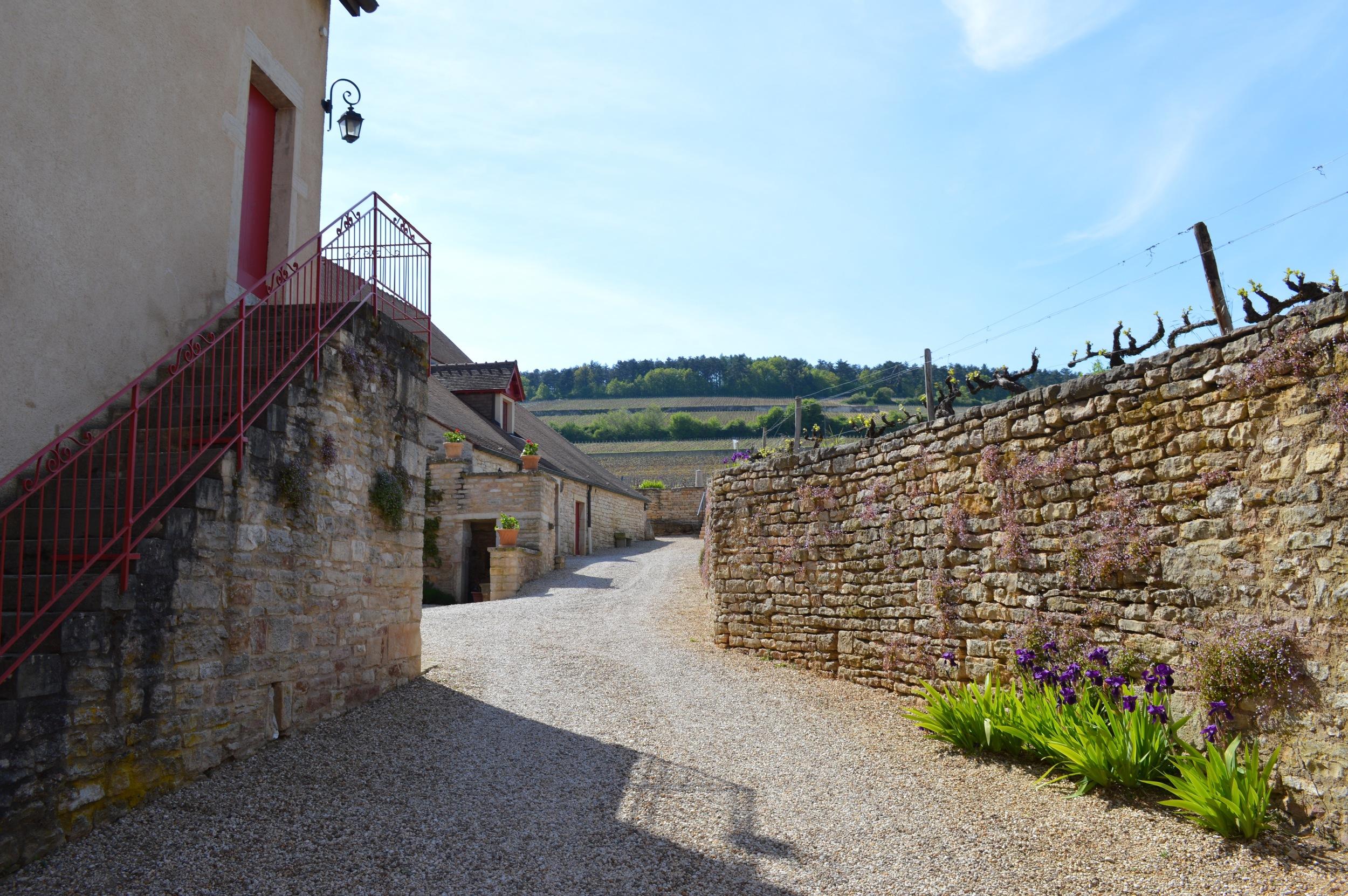 Clos de Tart courtyard