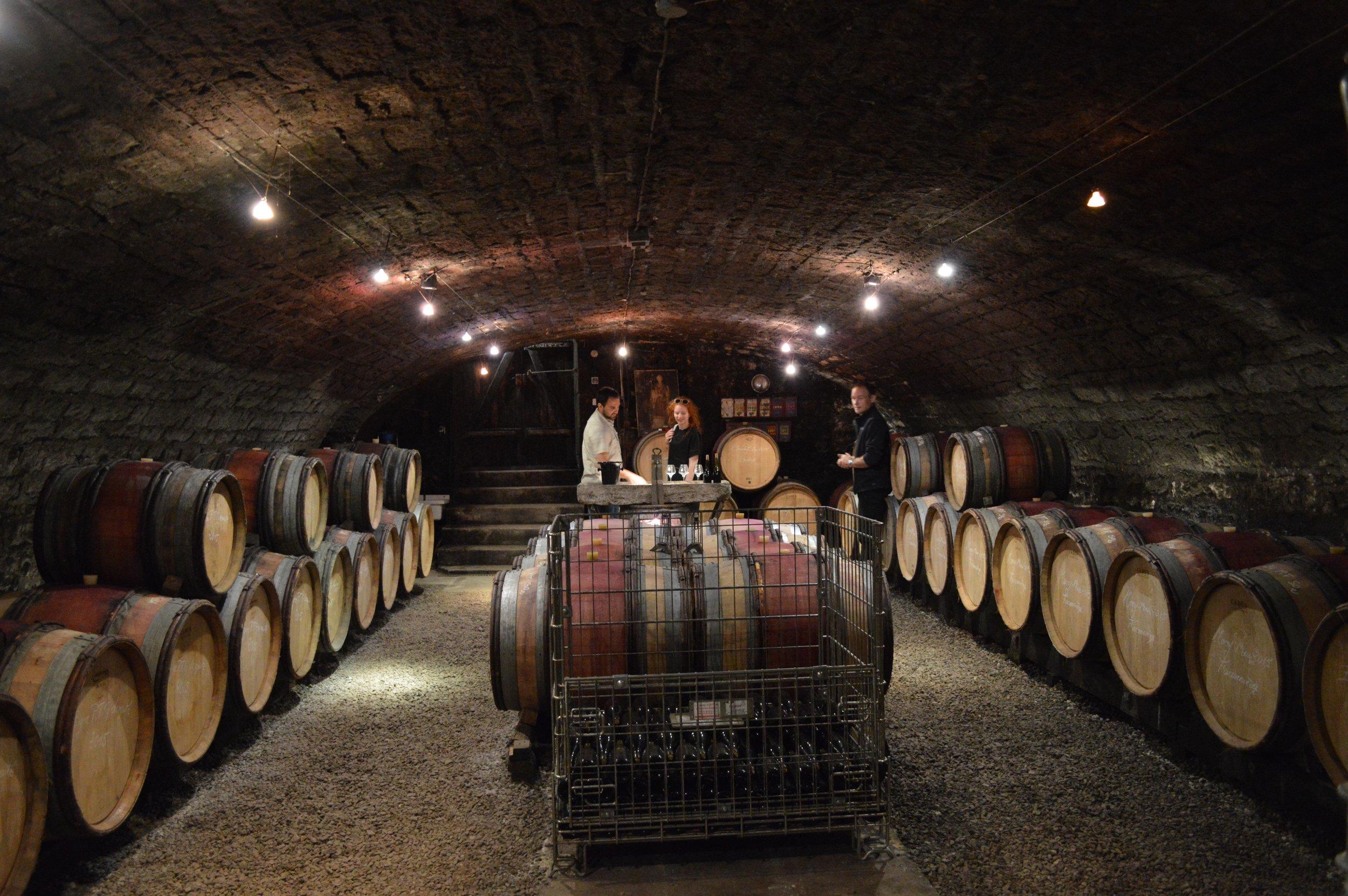 The cellar of Stephane Magnien in Morey-Saint-Denis.