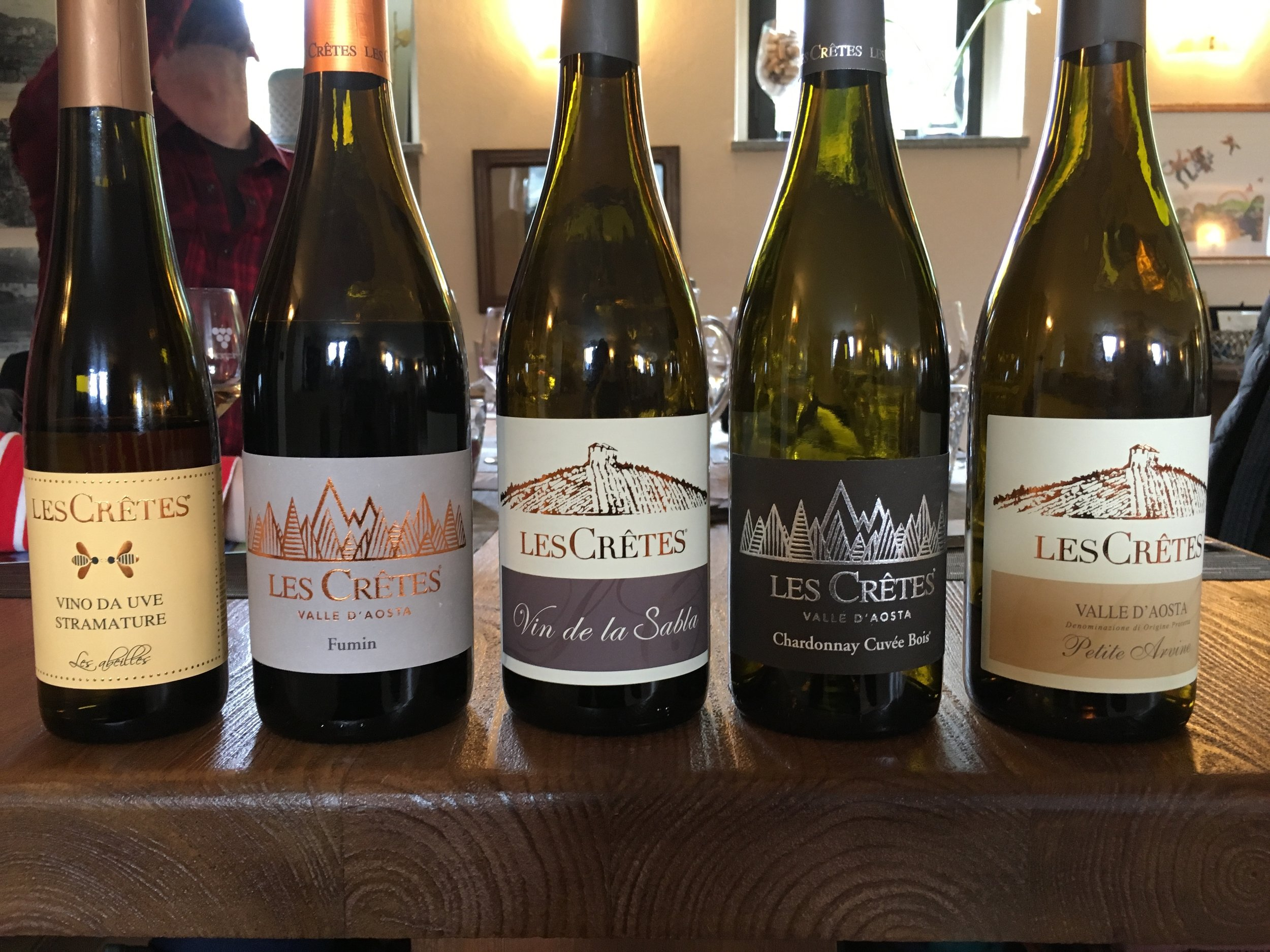 The wines of Les Cretes in the Aosta Valley of NW Italy.