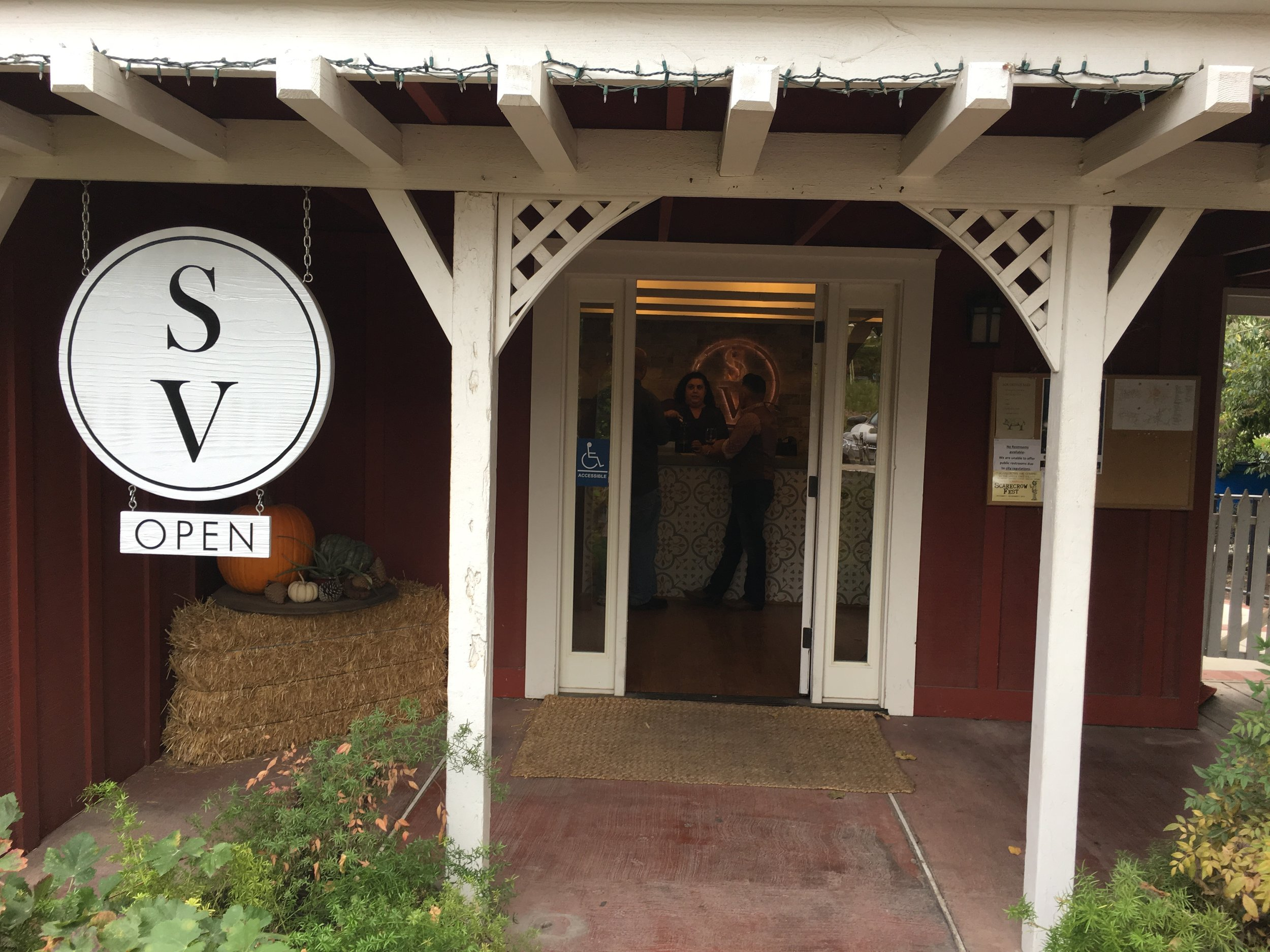 Entry to Stolpman's tasting room in the heart of Los Olivos