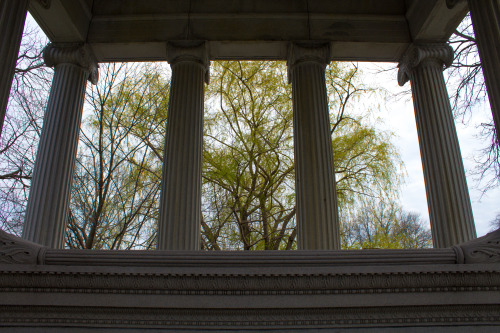 View from within the Palmer Tomb.