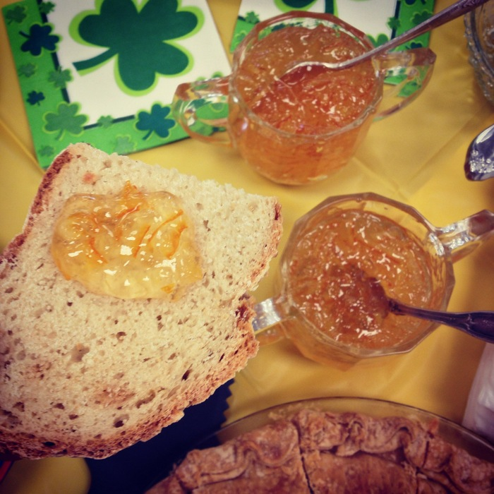 We got to take our soda bread home, and I enjoyed it all week toasted and topped with butter and my own marmalade. Check out recipes for both colcannon and soda bread from a local chef here: http://www.freshpickedseattle.com/home/2013/3/12/an-uncommon-colcannon-irish-soda-bread-recipes-from-chef-les.html